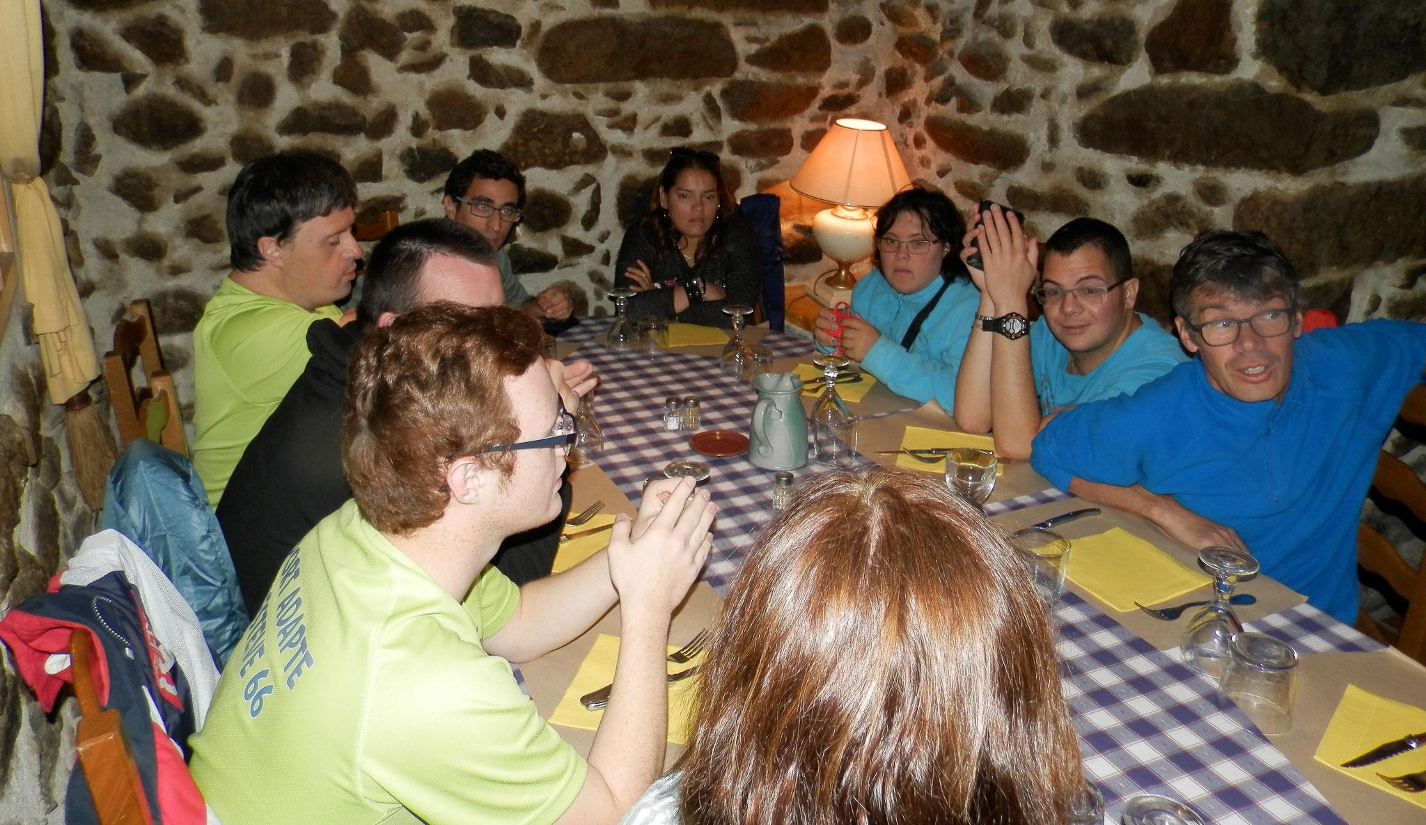 Journée aux bains de St Thomas, restaurant à Villefranche,  octobre 2017