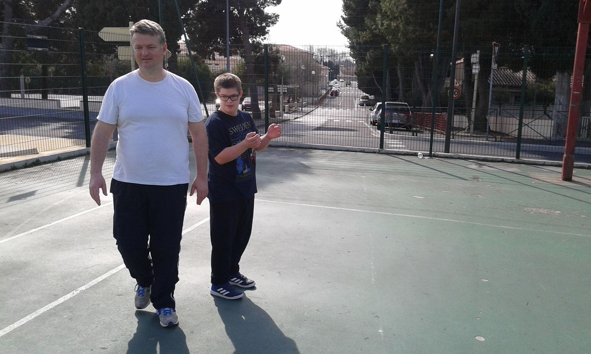 Matinée sportive Arthur et son papa.mars 2018
