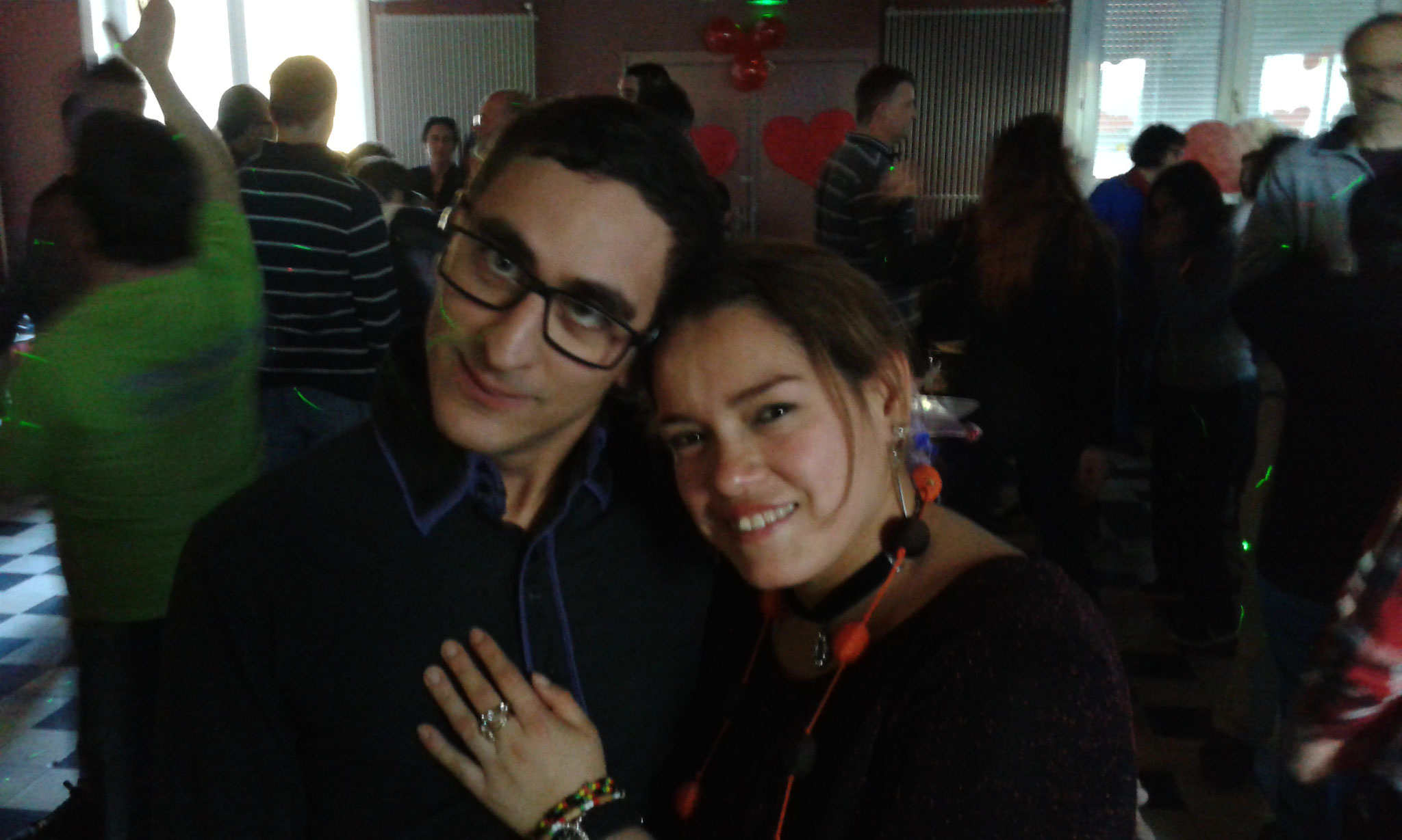 Lucie et Vincent.Bal de la St Valentin.février 2018