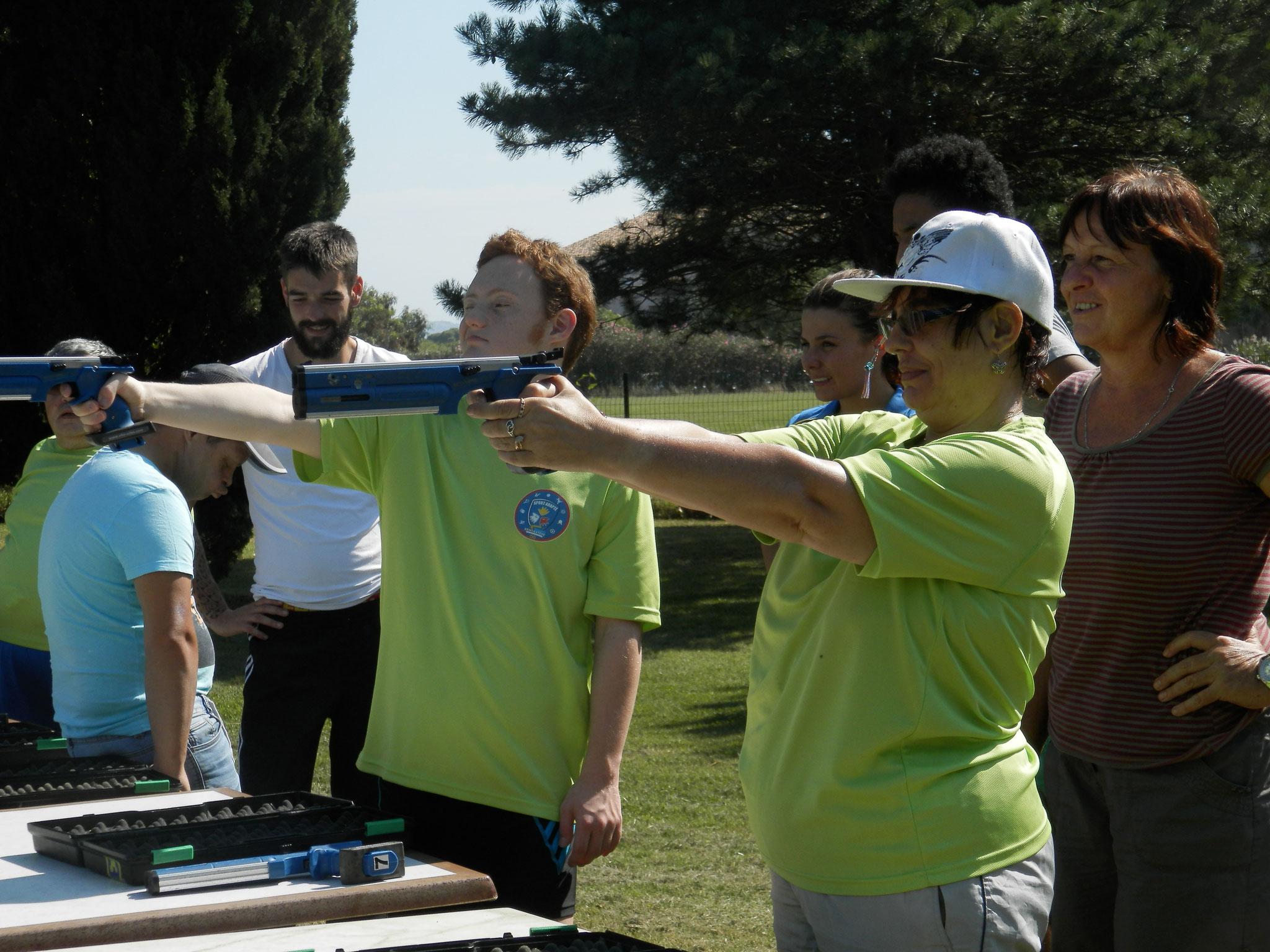Journée à l'UCPA de St Cyprien plage, offerte par le comité départemental en septembre 2016.