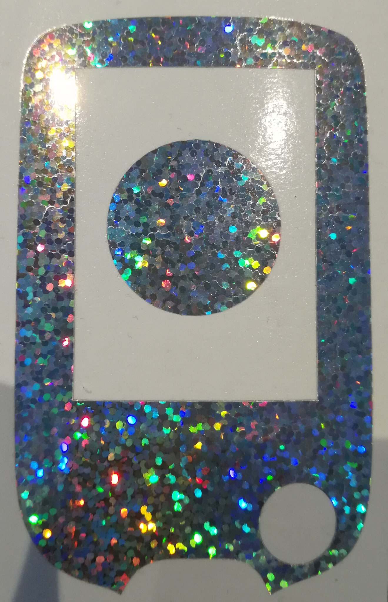 NEW: mega glitter sticker for Freestyle Libre reader and sensor silver
