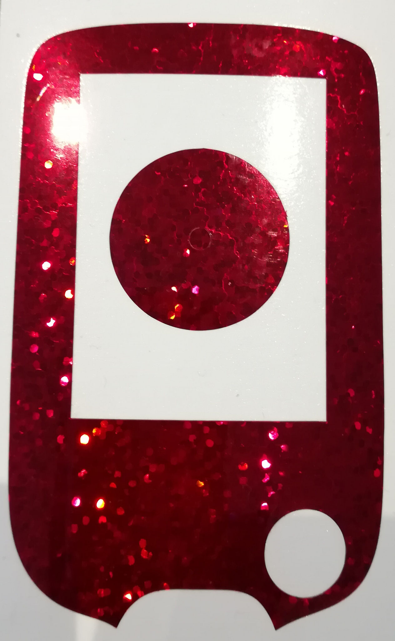 NEW: mega glitter sticker for Freestyle Libre reader and sensor red