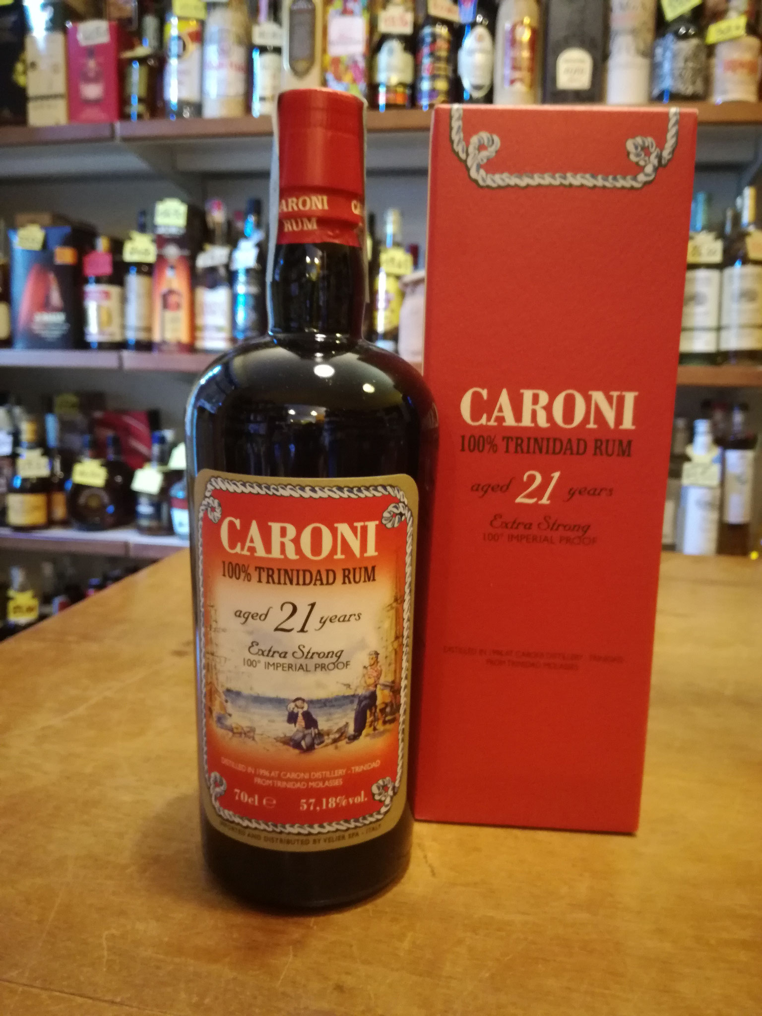 Caroni 21 YO - distilled 1996  from Trinidad Molasses  - 100% Imperial Proof (57,18% vol) Velier