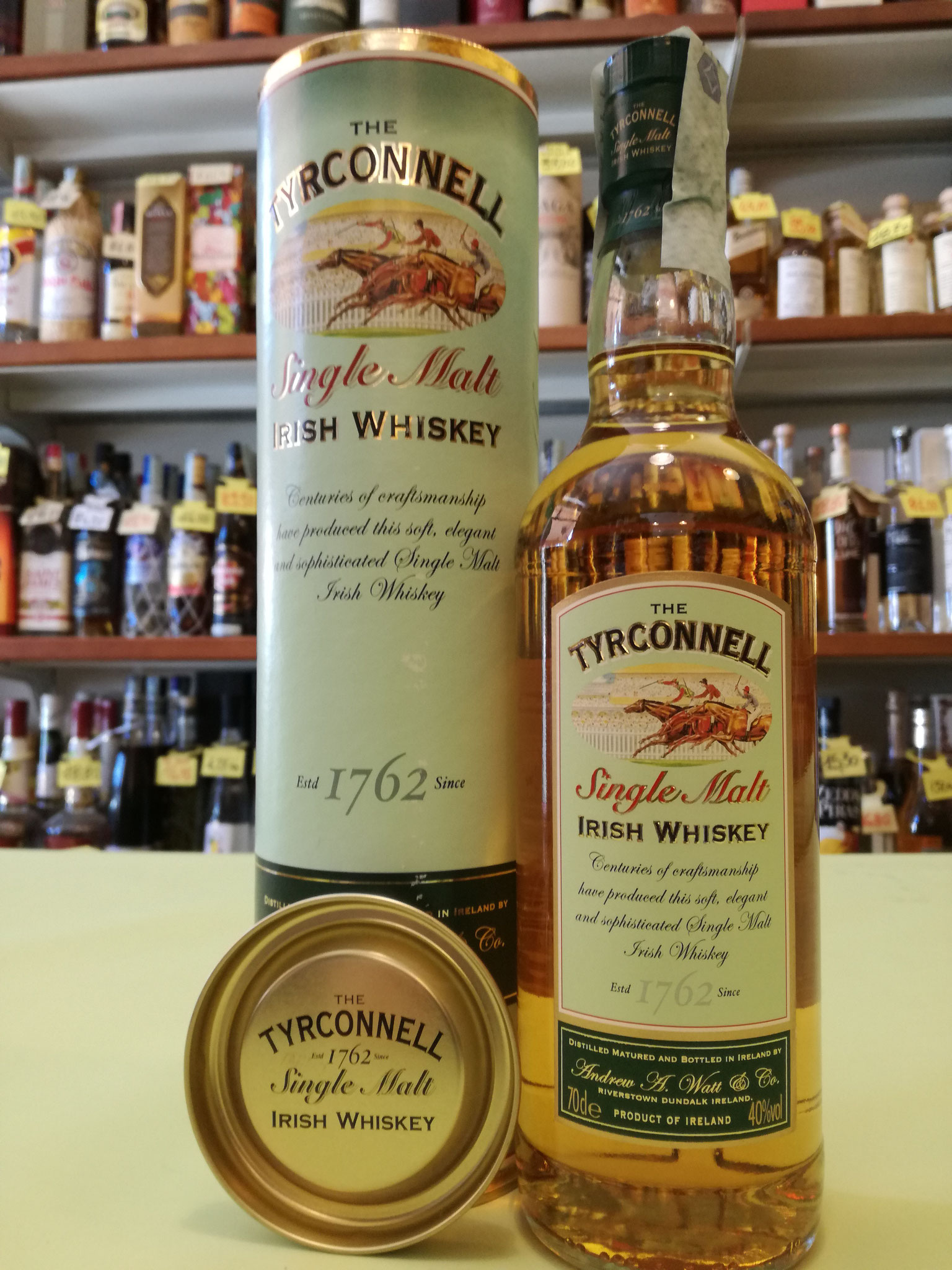 The Tyrconnell Single Malt Irish Wiskey  40% 70cl - Double distilled