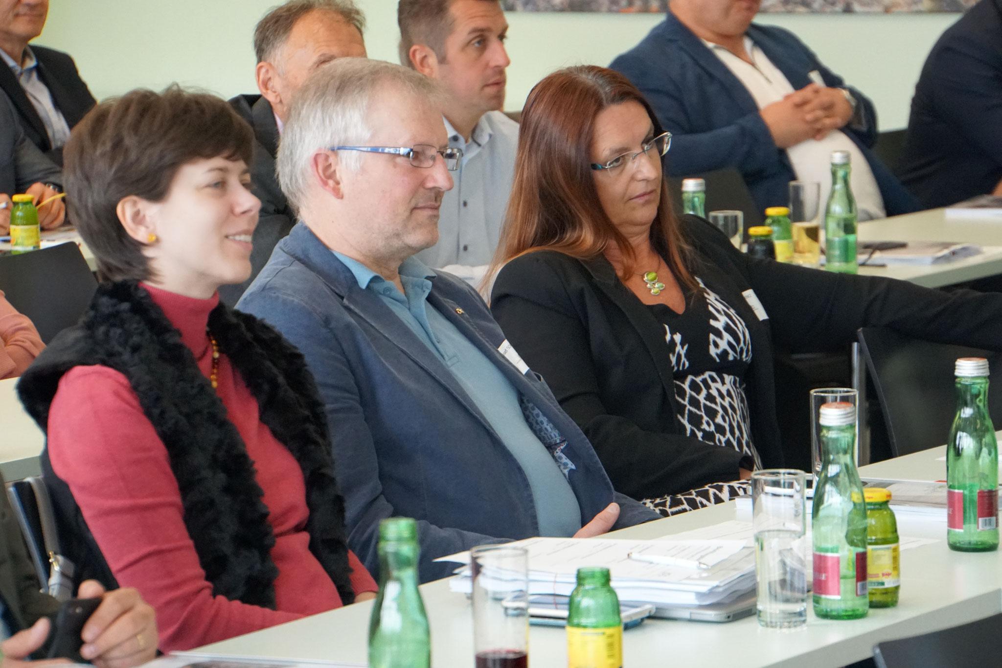 BIM KommR Josef Schrott mit Innungs-Geschäftsführung Kathrin Edler und DI Anka Lorencz
