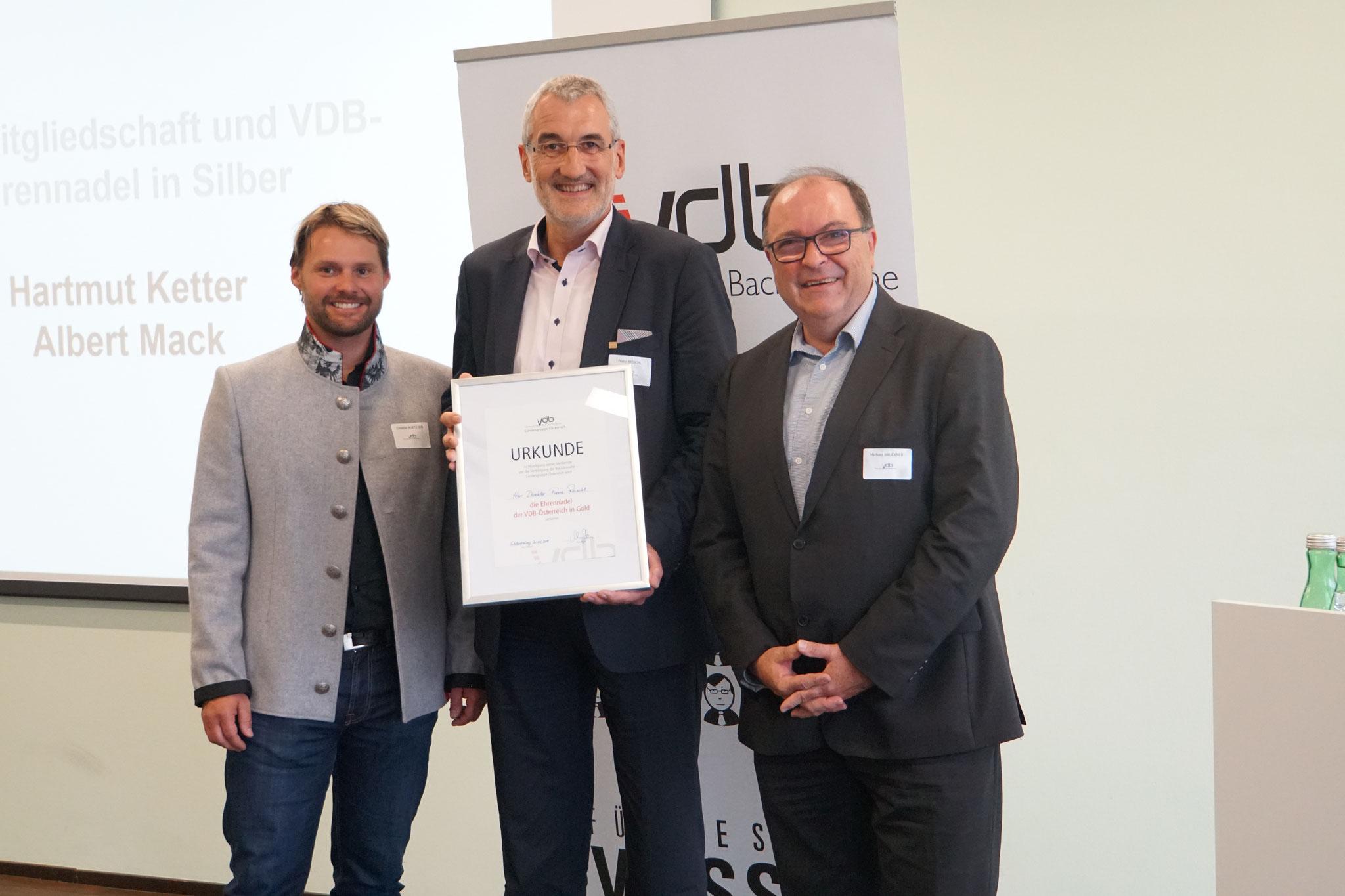 Goldene VDB-Ehrennadel für Hrn. Franz Reischl