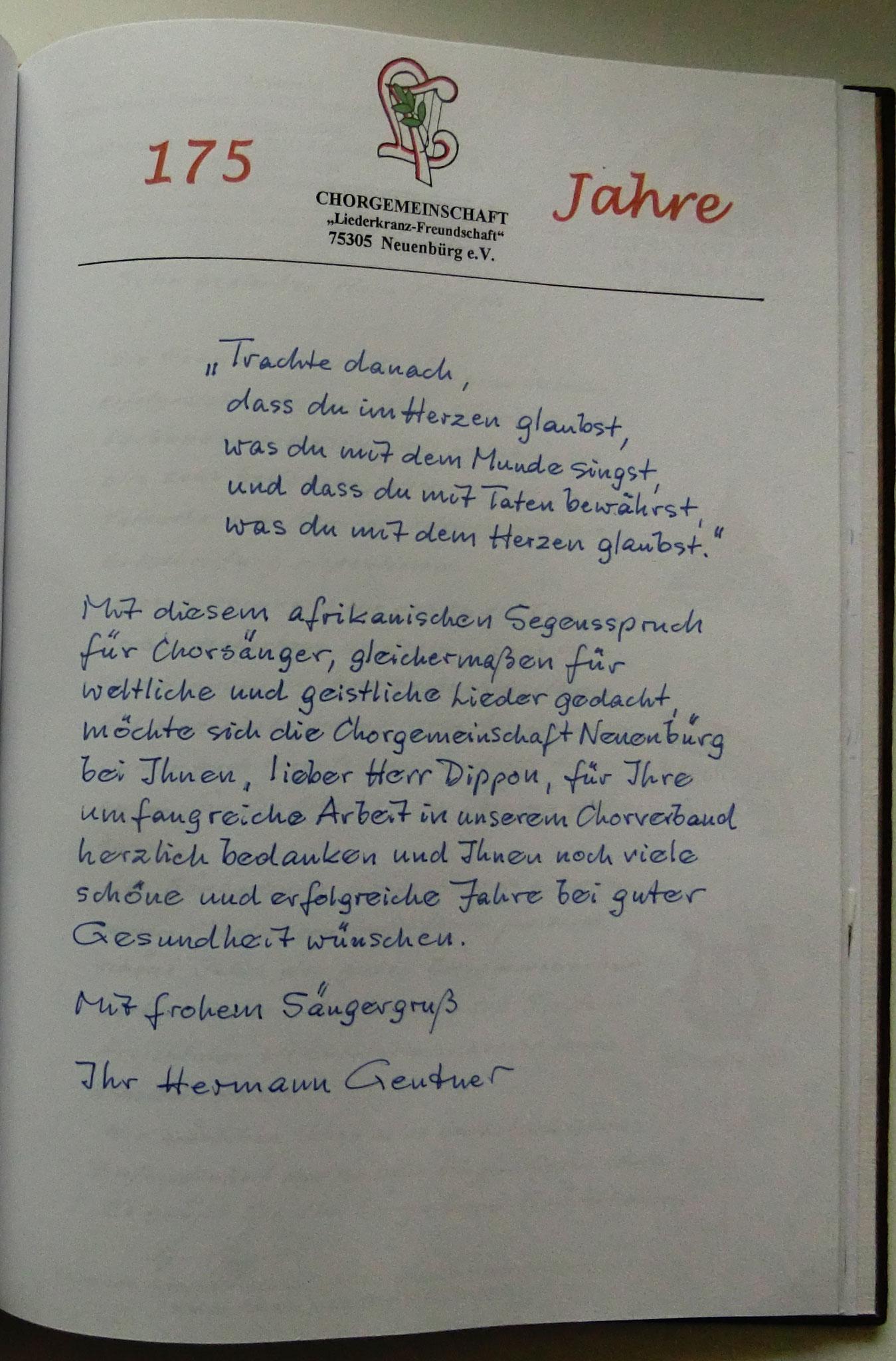 Liederkranz Freundschaft Neuenbürg