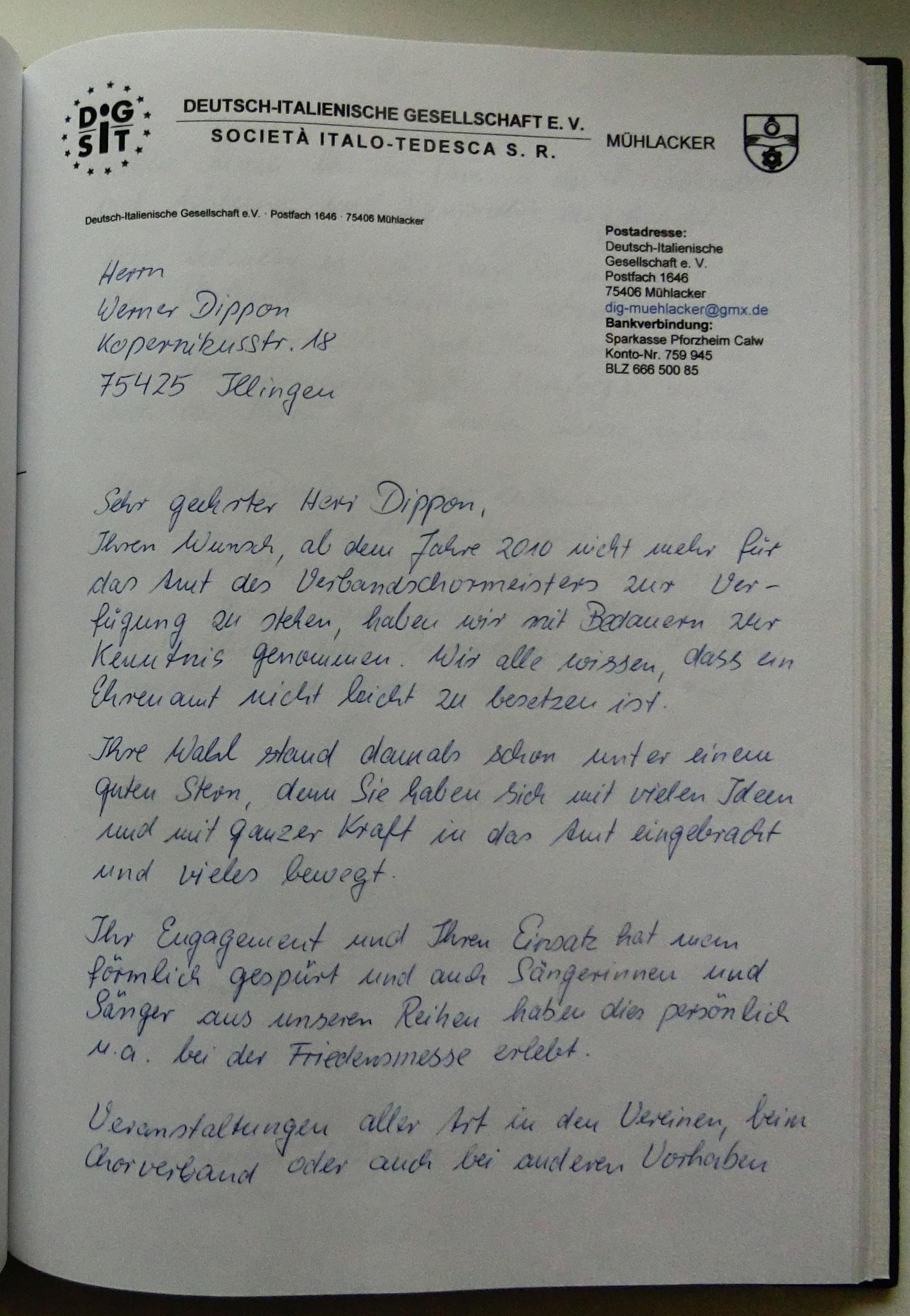 DIG Deutsch Italienische Gesellschaft Mühlacker