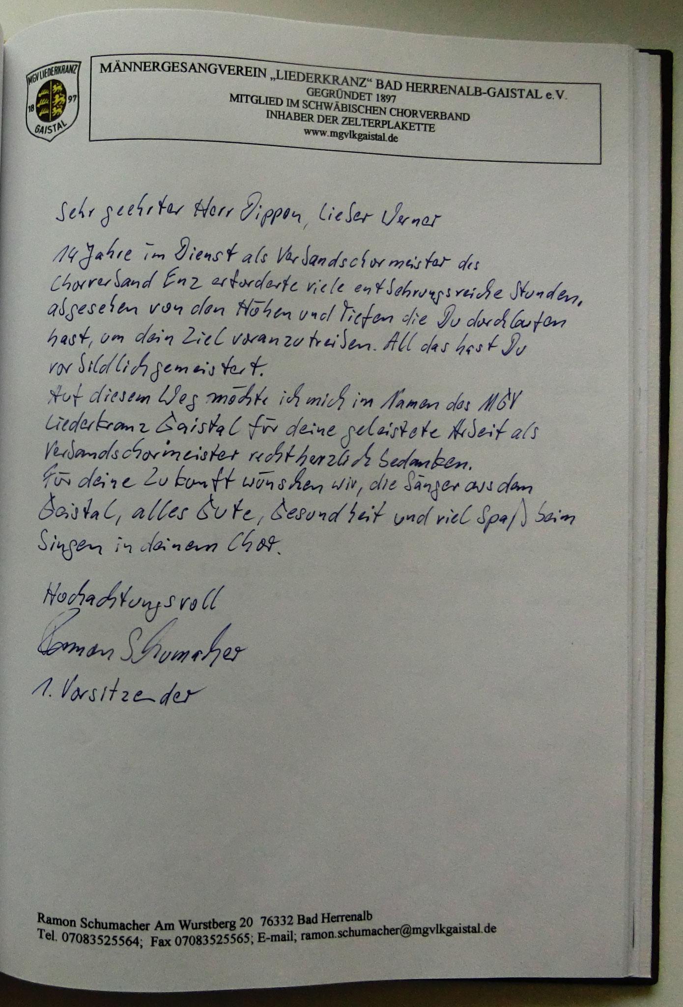 Liederkranz Bad Herrenalb - Gaistal
