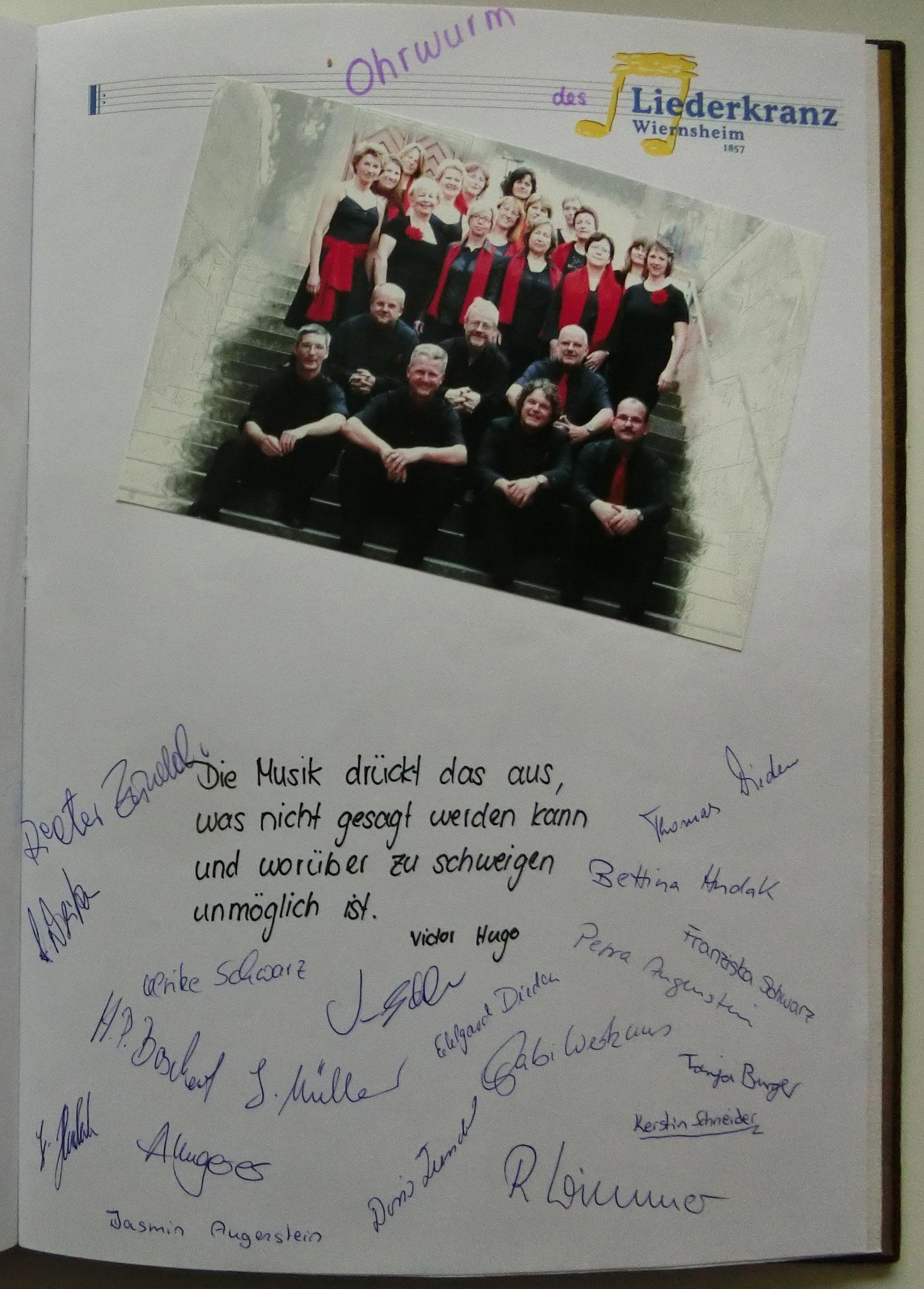 Liederkranz Wiernsheim . Ohrwurm