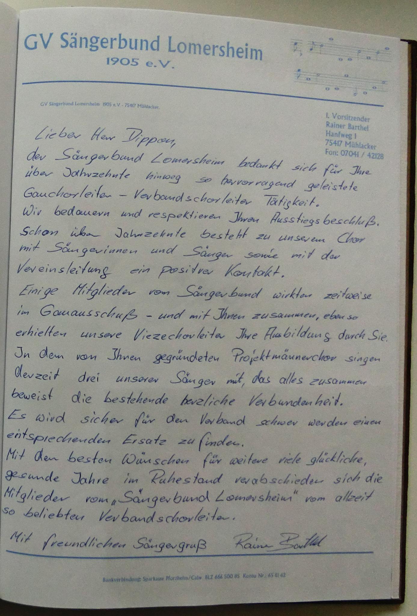 Sängerbund Lomersheim