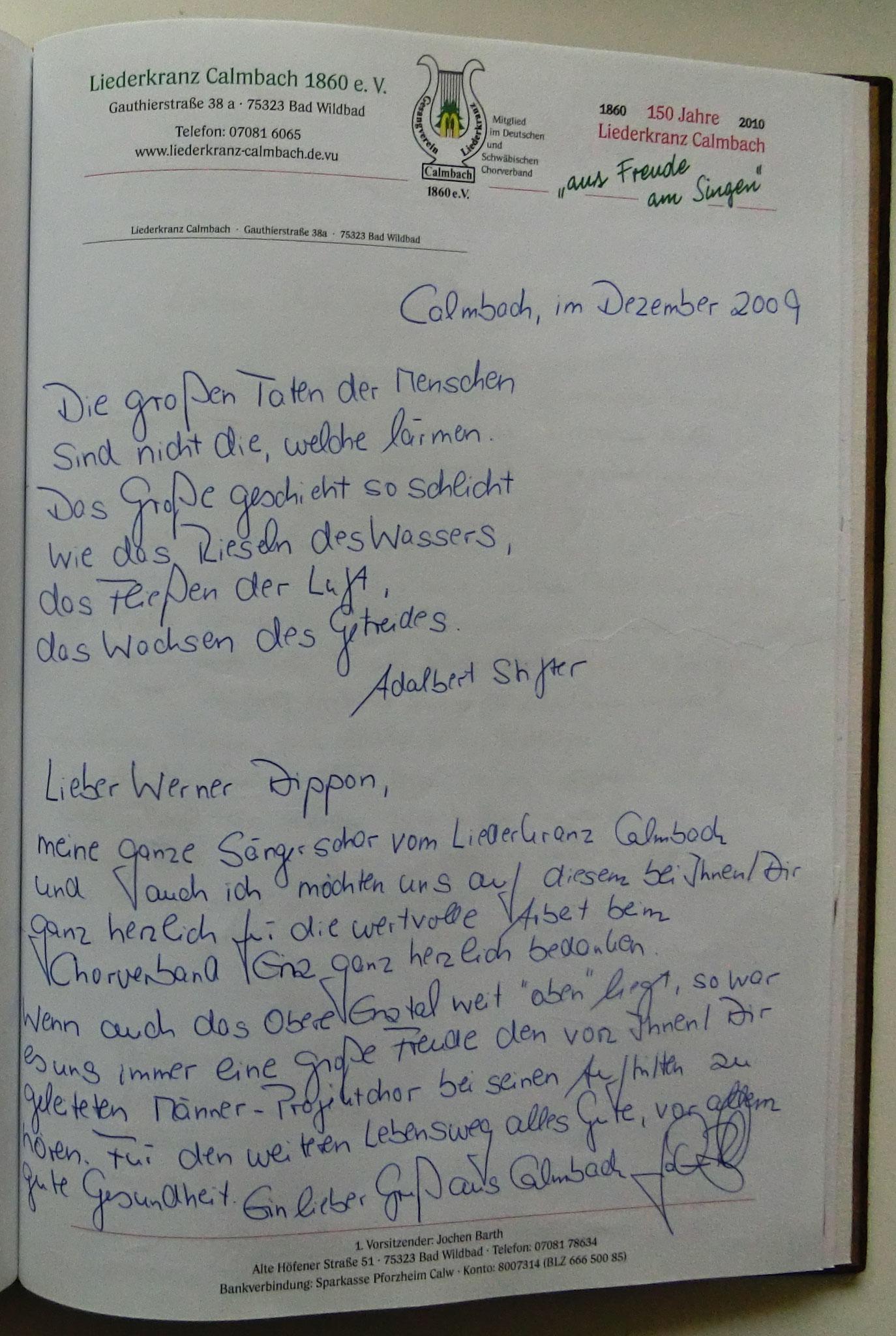 Liederkranz Calmbach