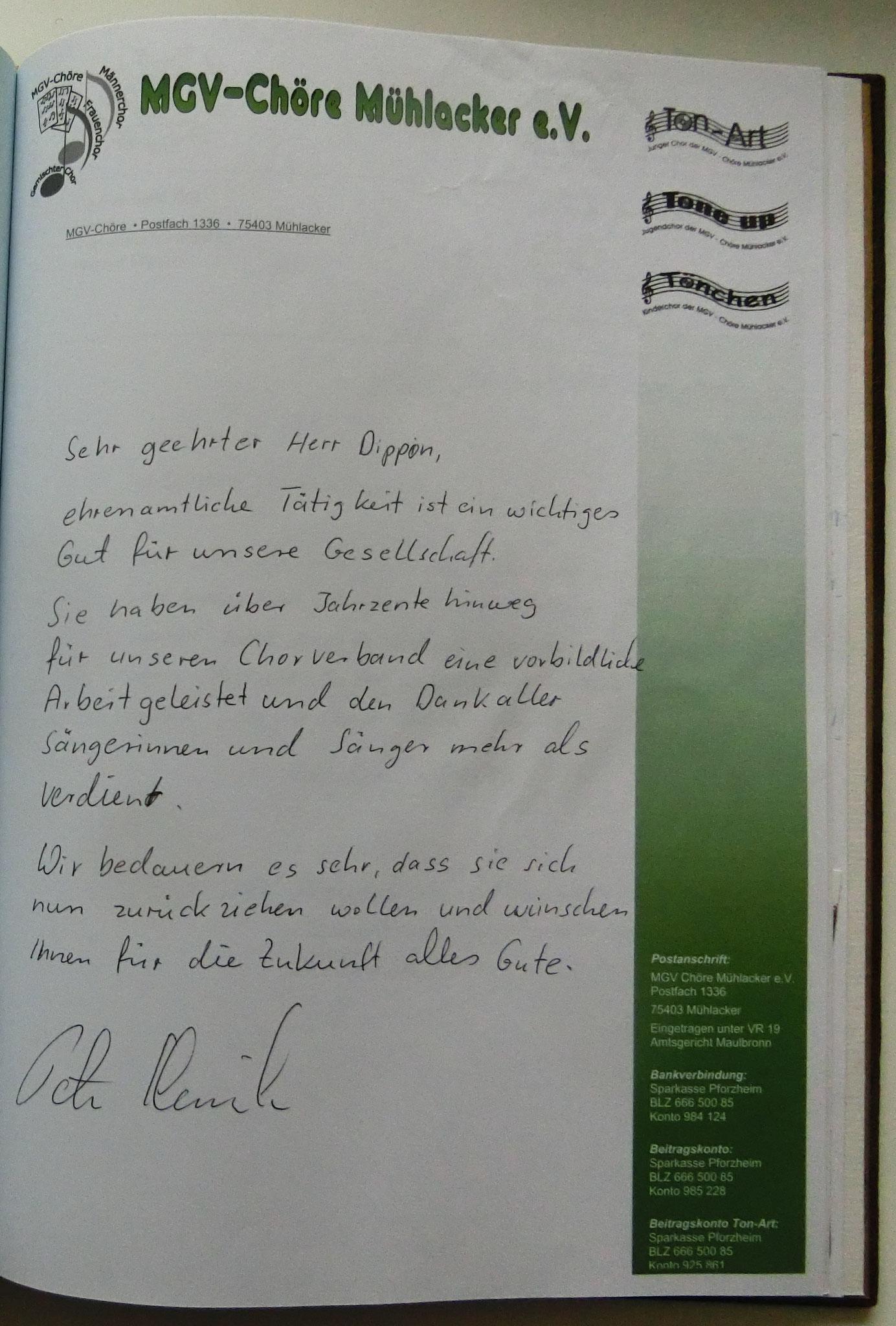 MGV Chöre Mühlacker