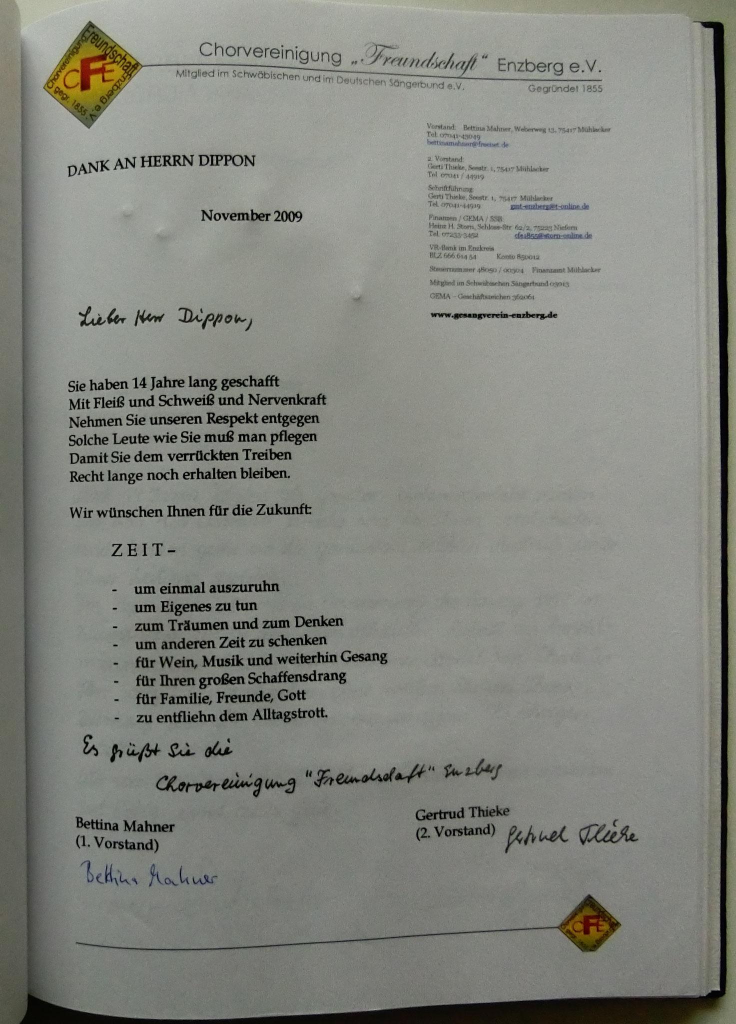 Freundschaft Enzberg