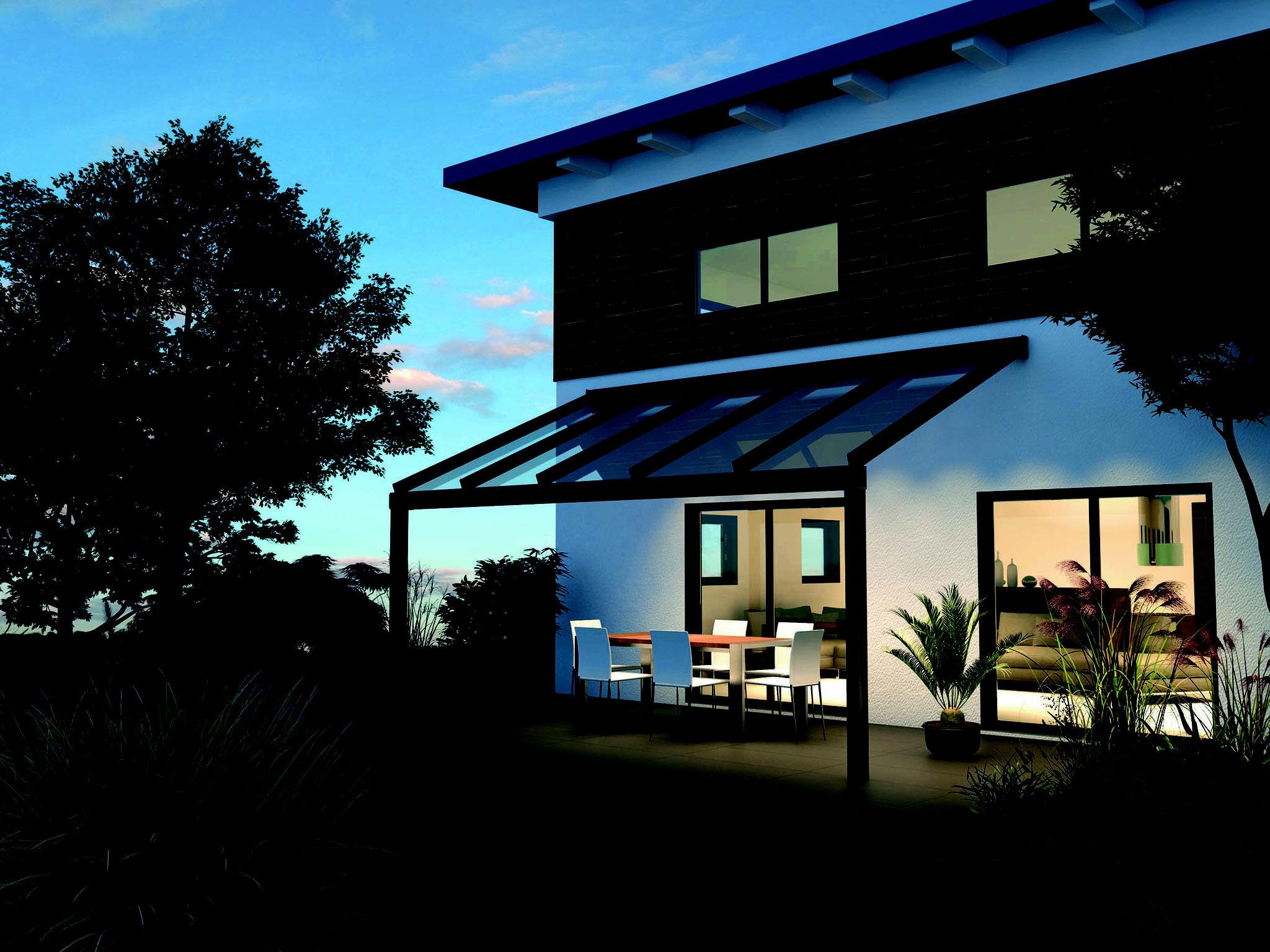 Ehrf rchtige lamellen terrassendach haus design ideen for Haus design app