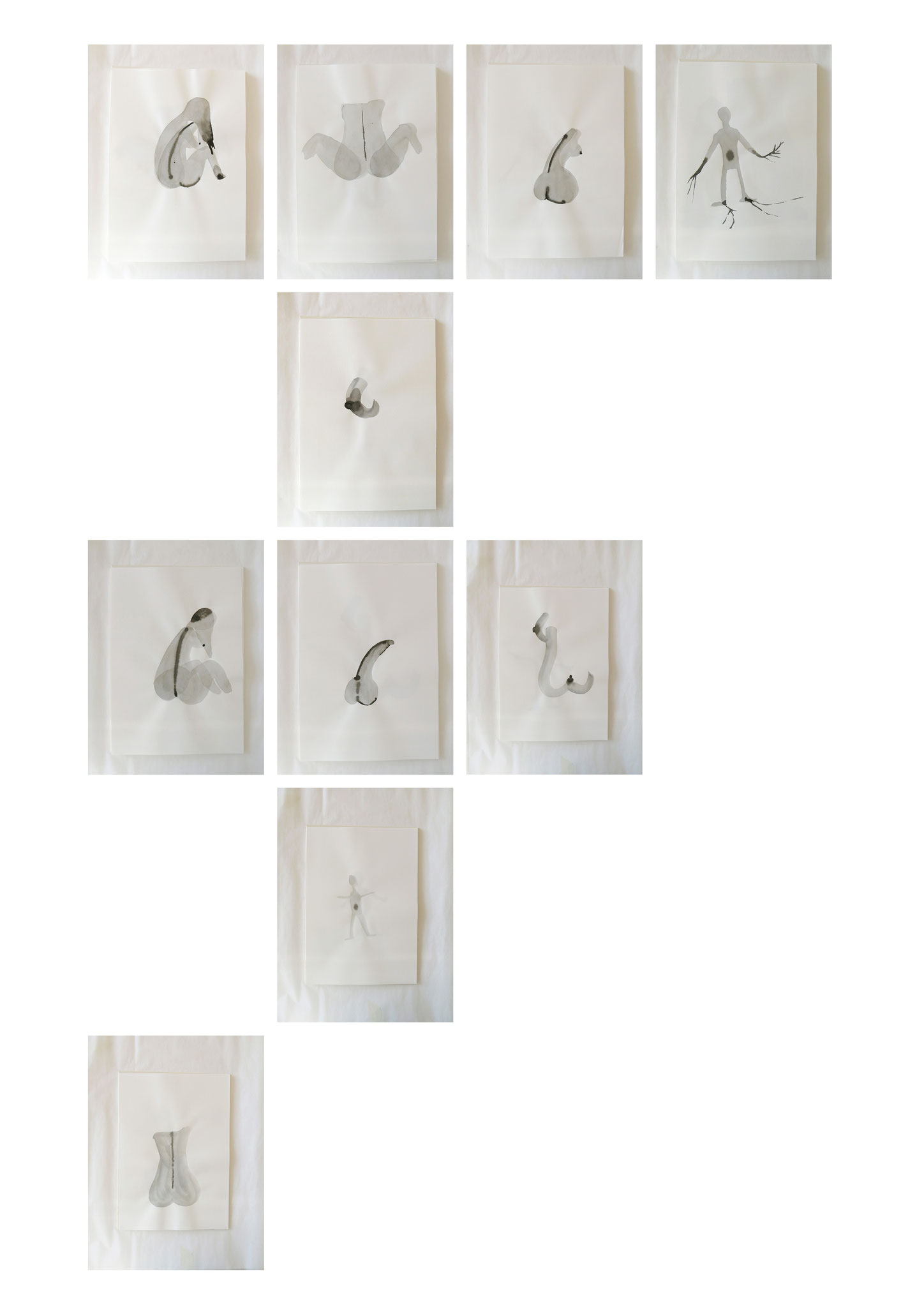"""""""One night stand"""" -  Gouache auf Papier, 21 x 29.8cm,  Zurich 2015"""