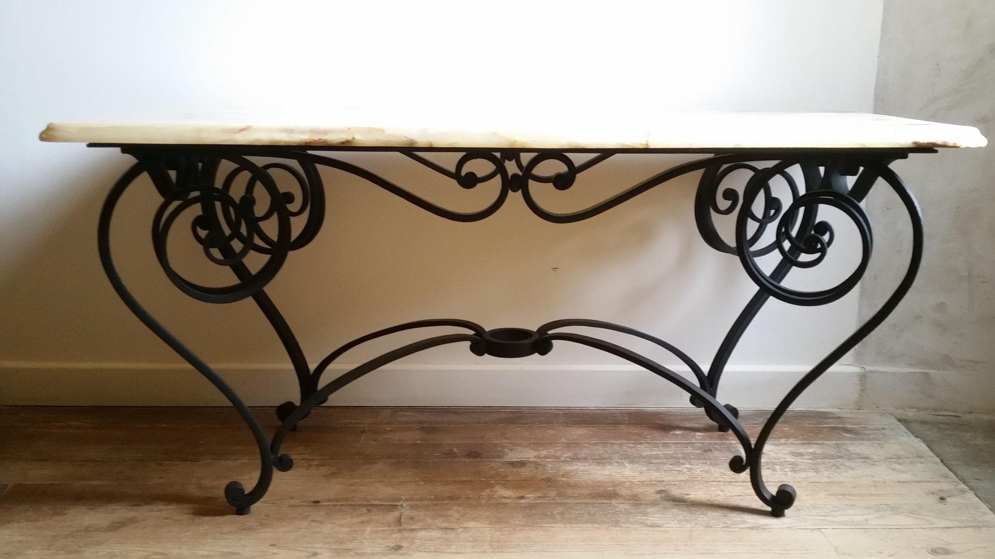 table basse ferronnerie d'art