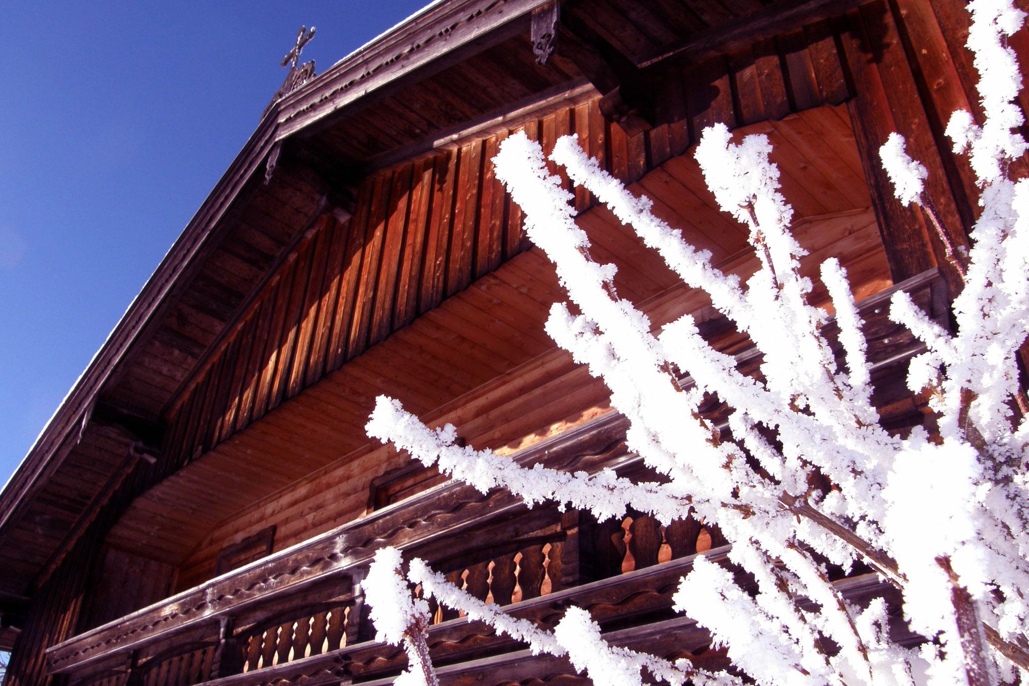 Winterliche Stimmung im Trachtenheim Irschenberg