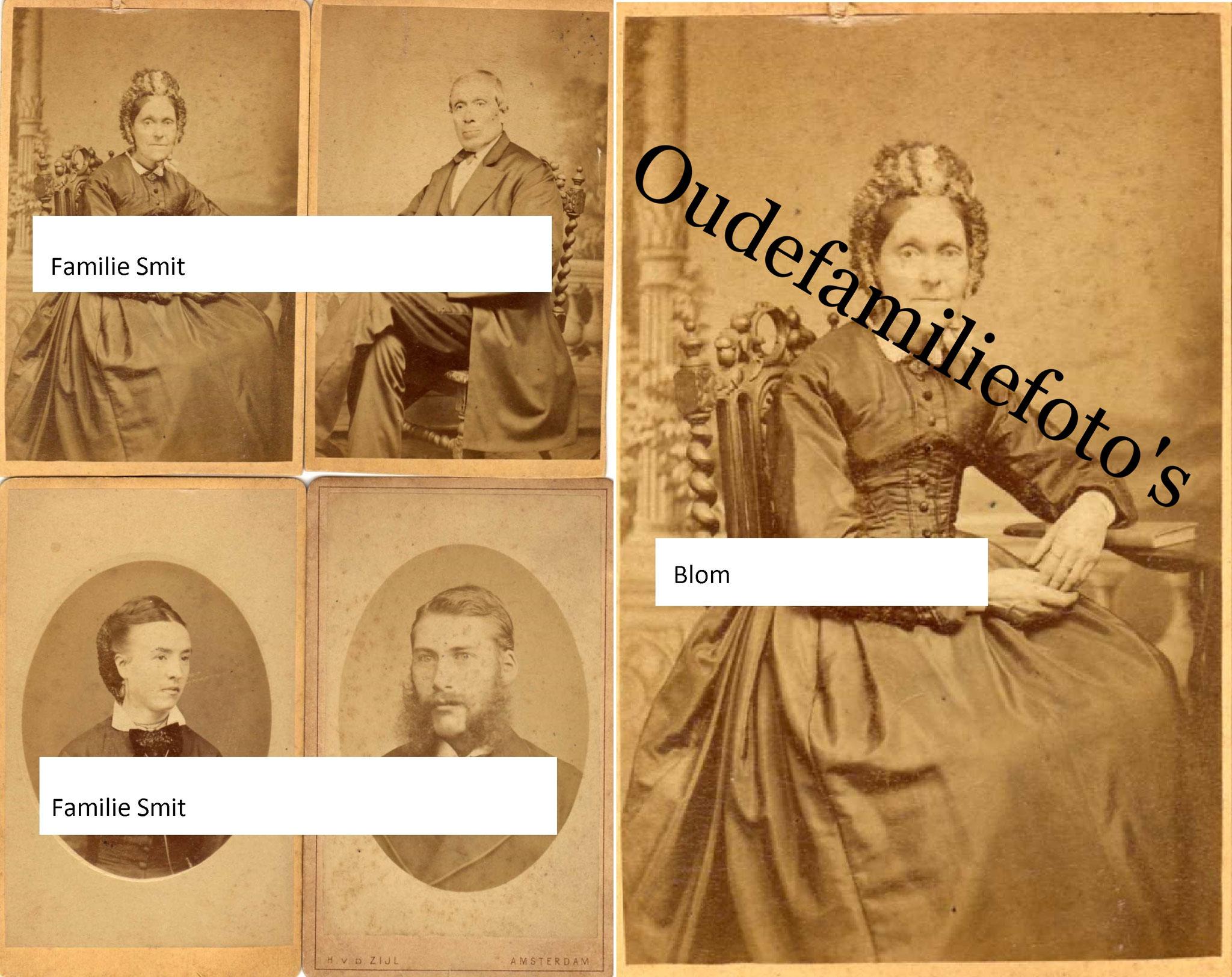 Blom, Anna Maria. Geb. 18-11-1820 Haarlem. Ovl. 3-5-1899 Zaandam. Getrouwd 29-9-1841 met Barend Frederik Smit. € gratis voor aantoonbare familie