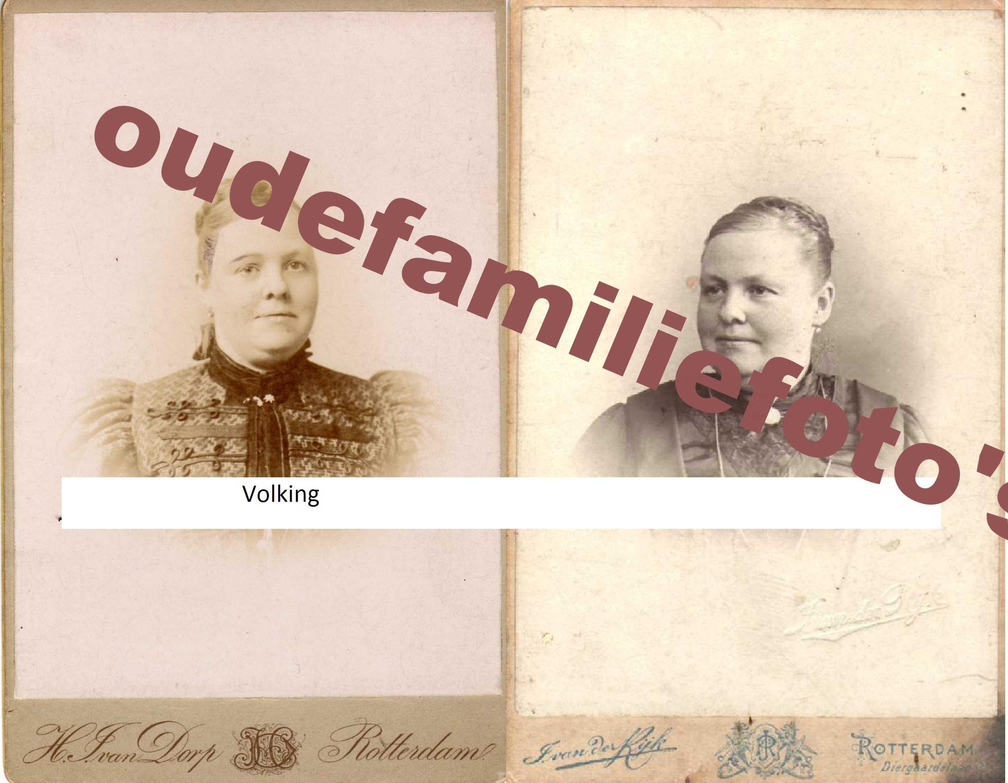 Volking, Geertruida. Geb: 22-7-1857 Rotterdam. Gehuwd met Johannes Poels. € 4,00
