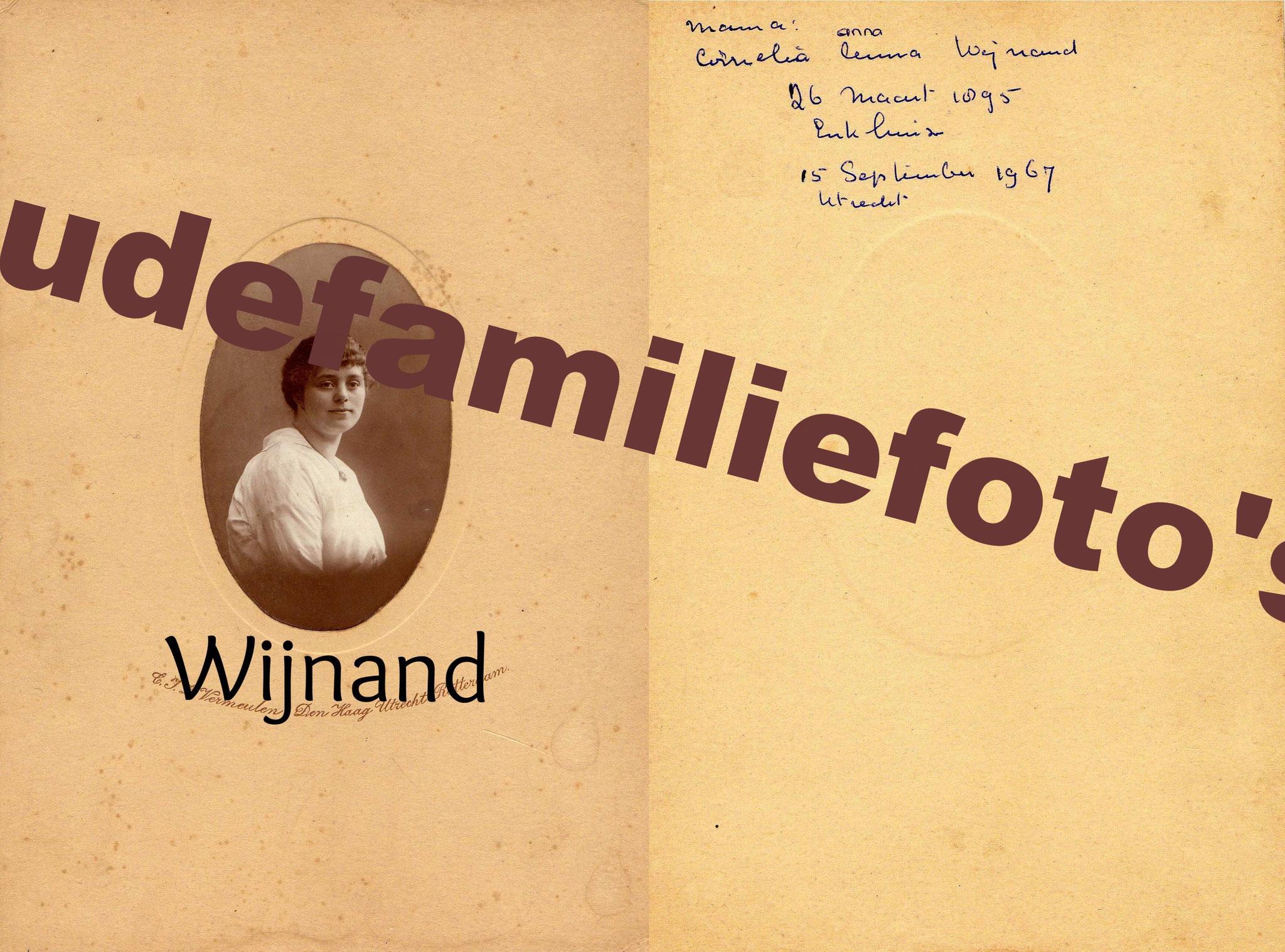 Wijnand, Cornelia Anna, geb: 26-3-1895 Enkhuizen. getrouwd met Richardus Josephus Krietemeijer. € 4,50