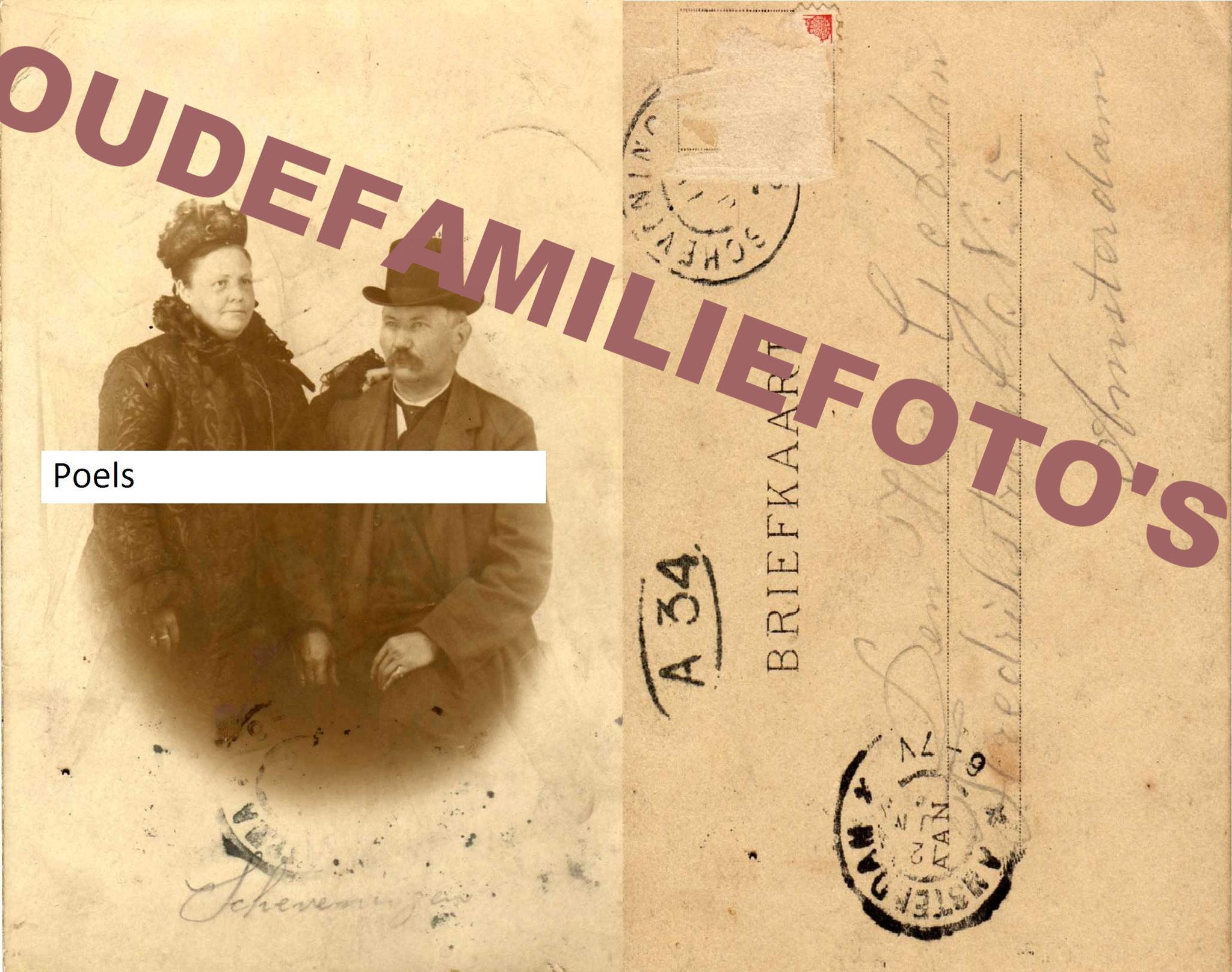Poels, Johannes. geb: 2-8-1847 Venray. getrouwd met Geertruida Volking. € 2,50