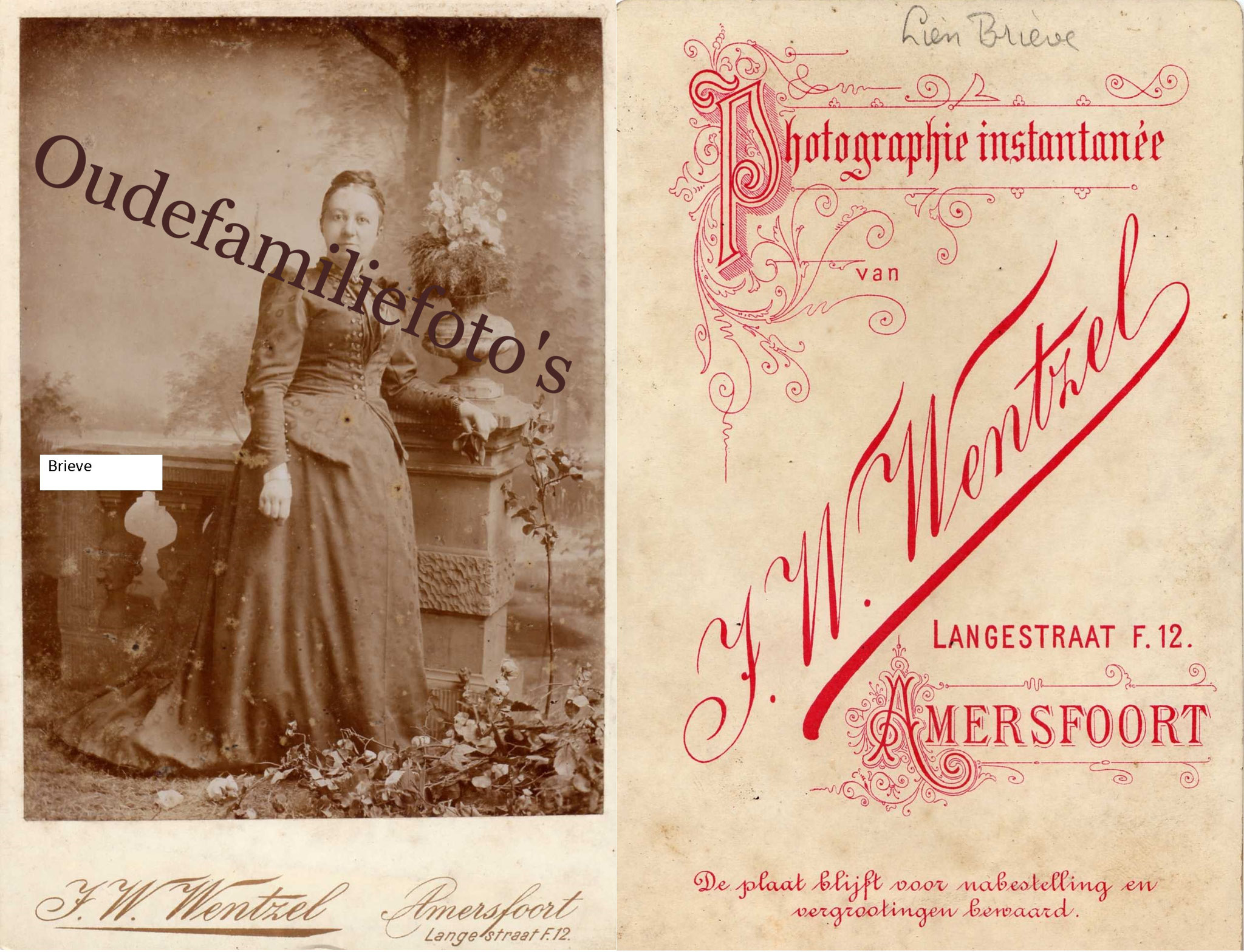 Brieve, Engelina Johanna. Geb. 26-12-1843 Middelburg Ovl. 6-9-1918 Middelburg € 4,00