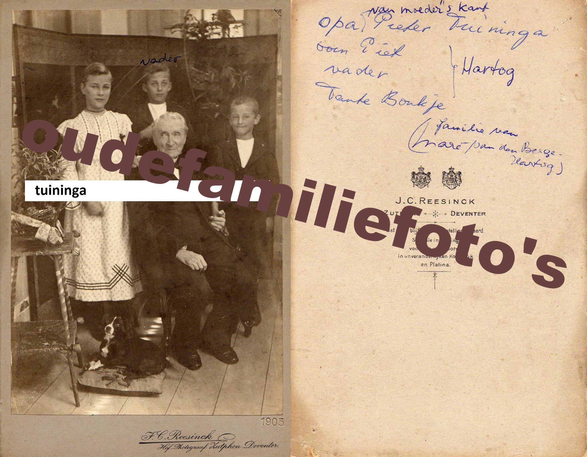 Tuininga Pieter. geb: 27-8-1823 Joure ouders Jan Willem en Hantje Pieters Huitema. € 4,00