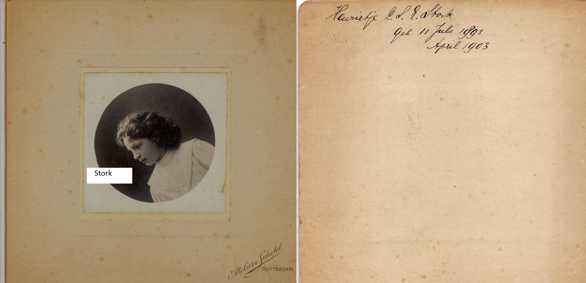 Stork, Henriette Cornelie Sara Elisabeth Geb. 11-7-1893 Hengelo € 3,00