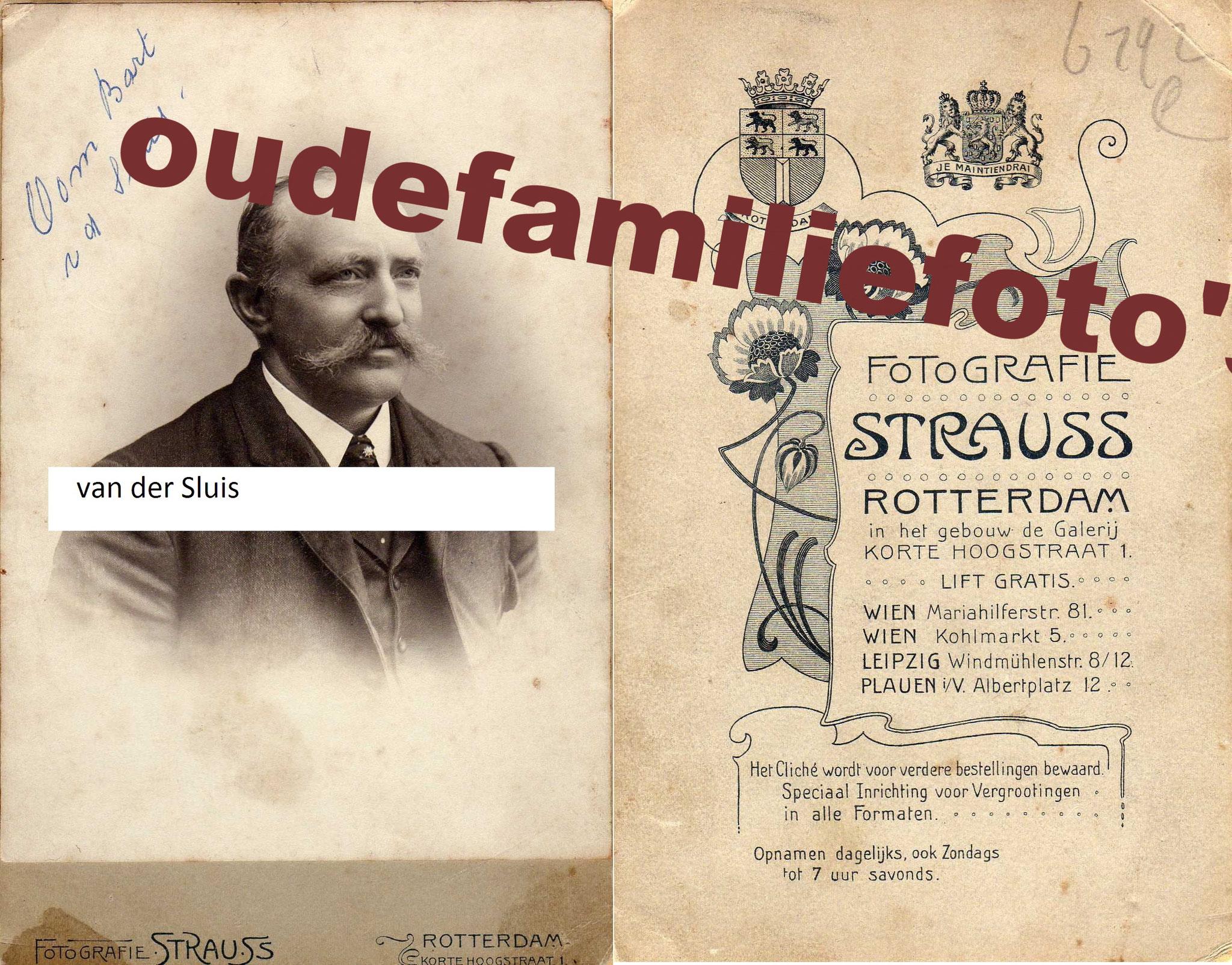 Sluis van der, Bart 99% geb. 8-11-1889 Ophemert. getrouwd met Belia Dolron. € 3,00