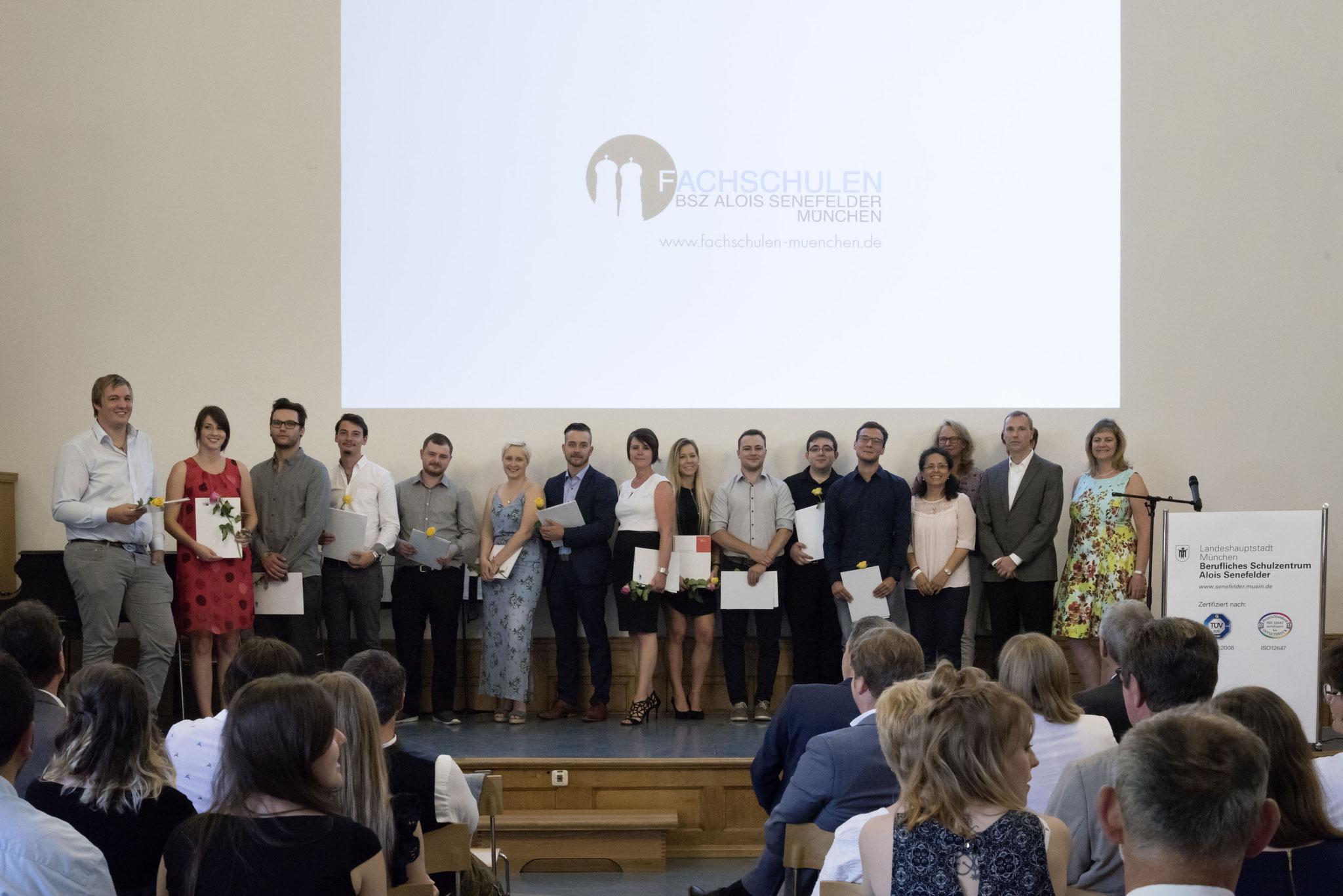 Abschlussklasse der Buchbindemeister - Industrie 2018