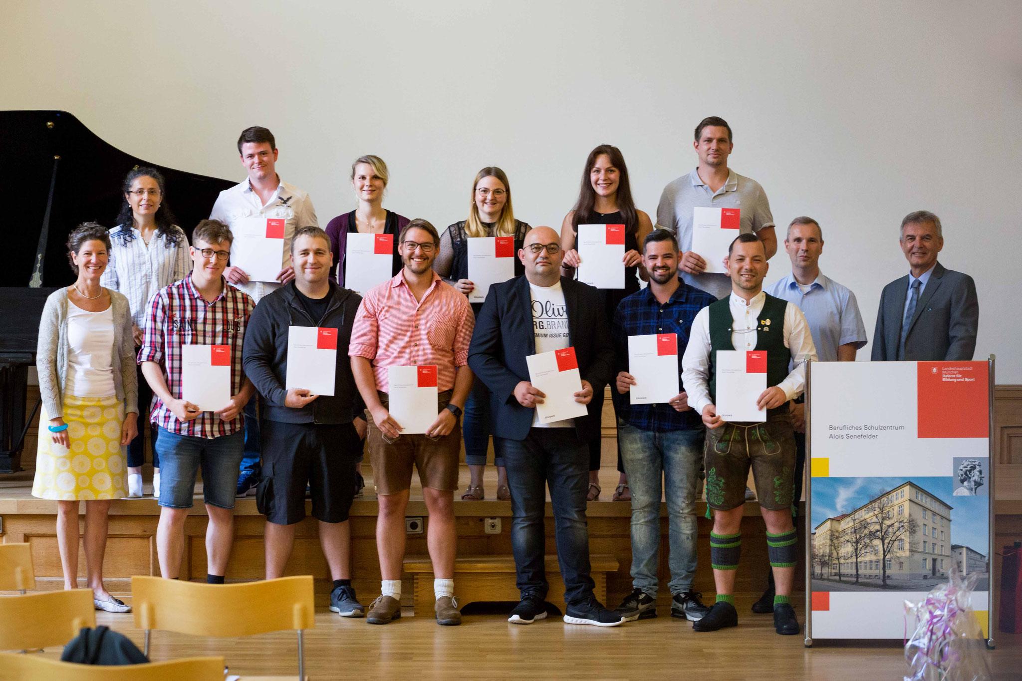 Abschlussklasse der Buchbindemeister - Industrie 2020