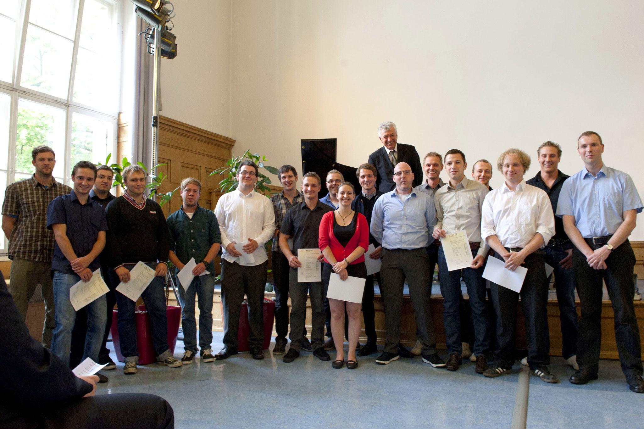 Abschlussklasse der Buchbindemeister - Industrie 2012