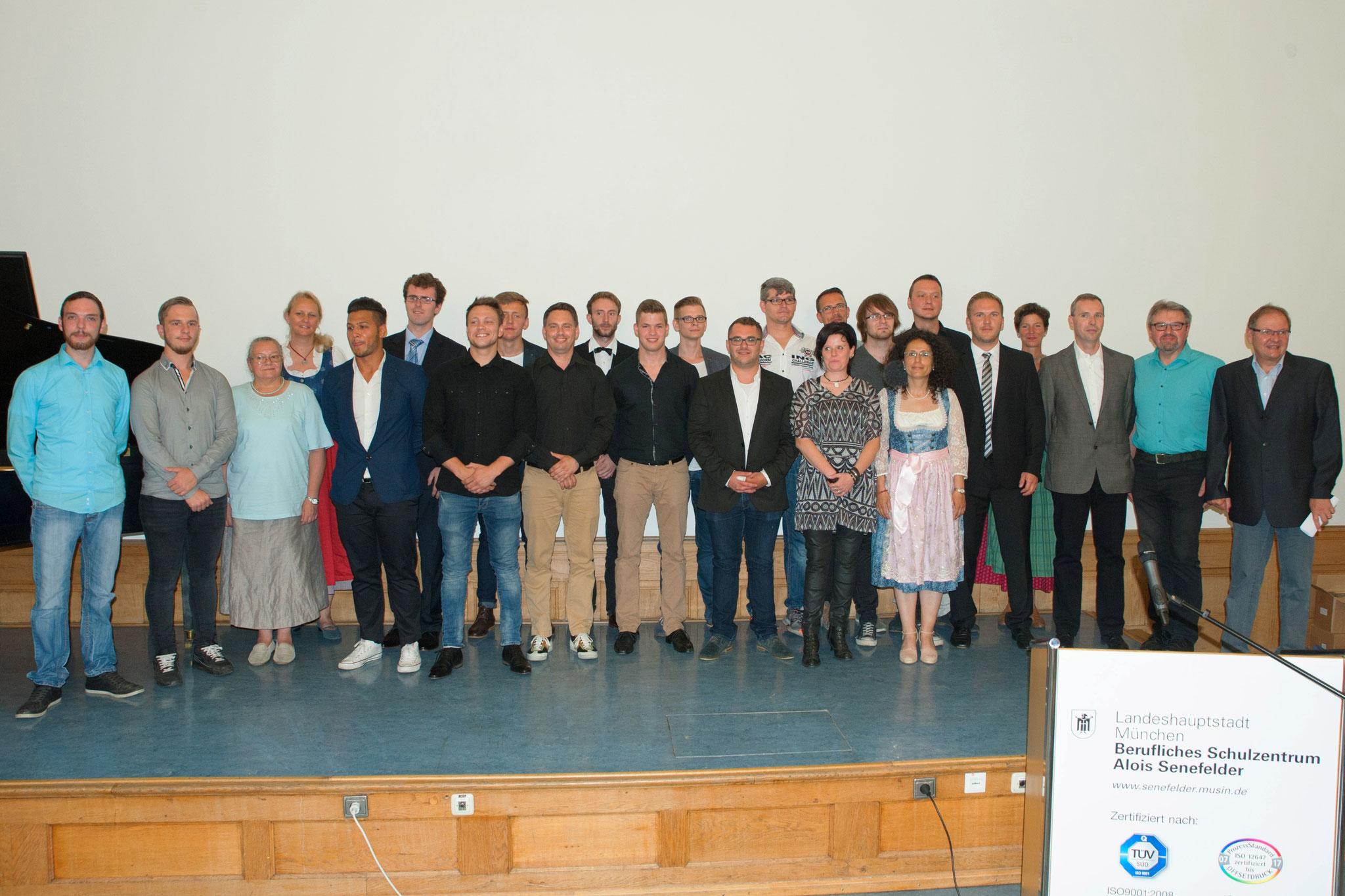 Abschlussklasse der Buchbindemeister - Industrie 2016