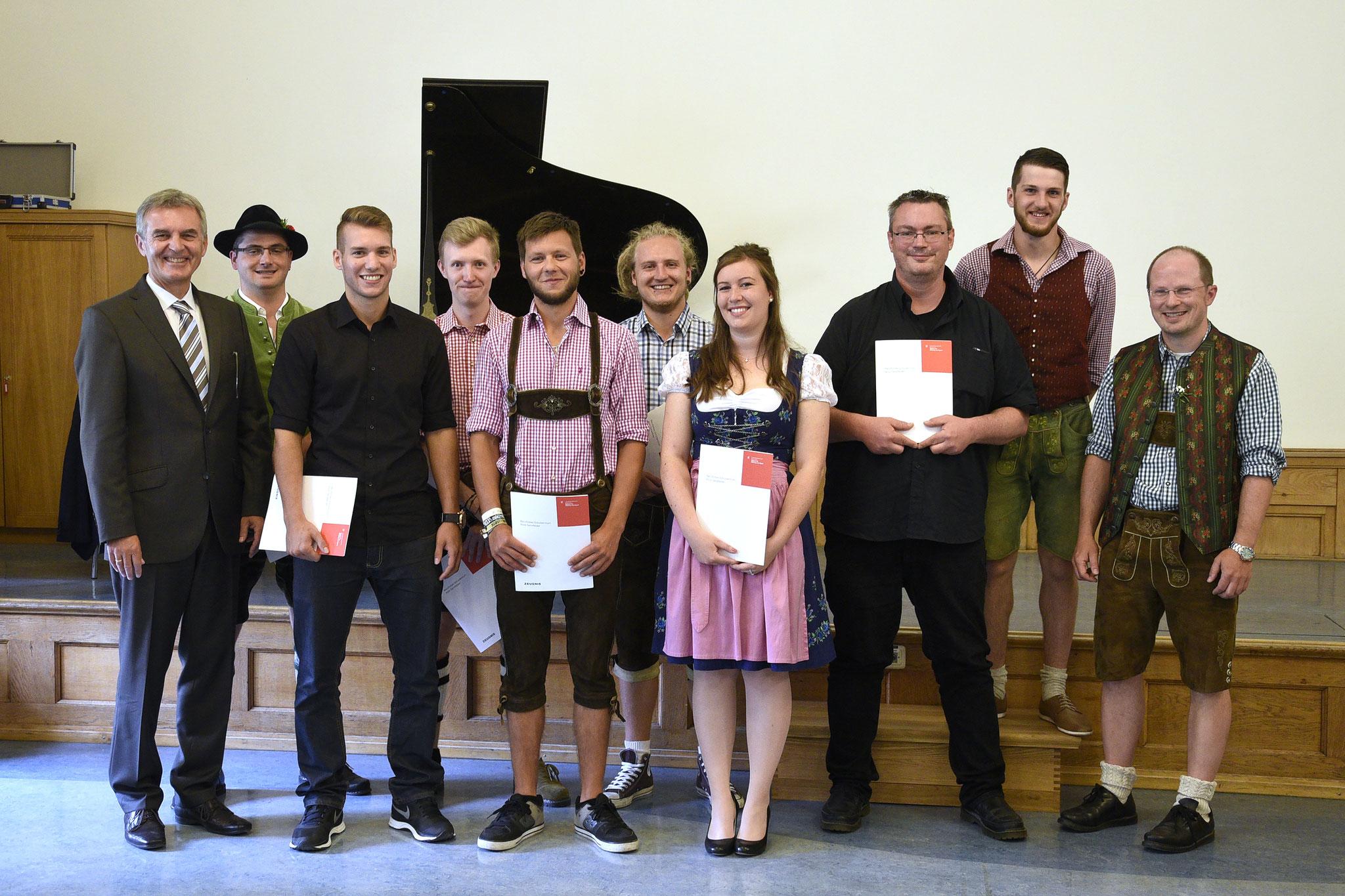 Abschlussklasse der Druck- und Medientechniker 2017