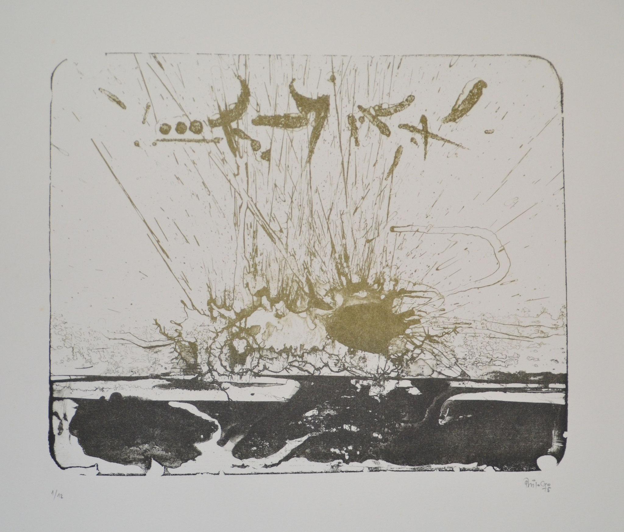 Moutier Jura 1974 lithographie 56x38cm 1974