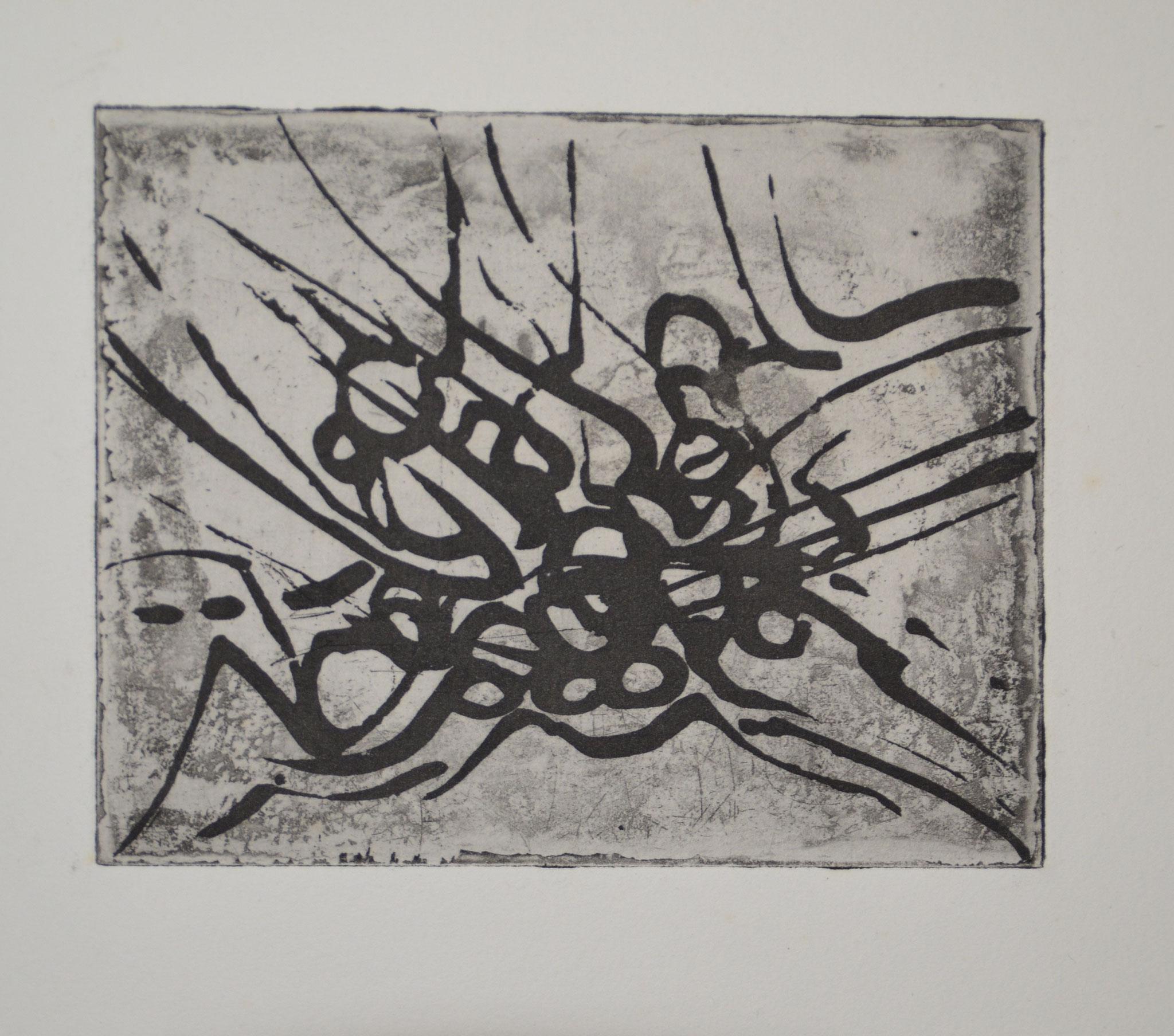 Lucta! gravure 33x25cm 1973