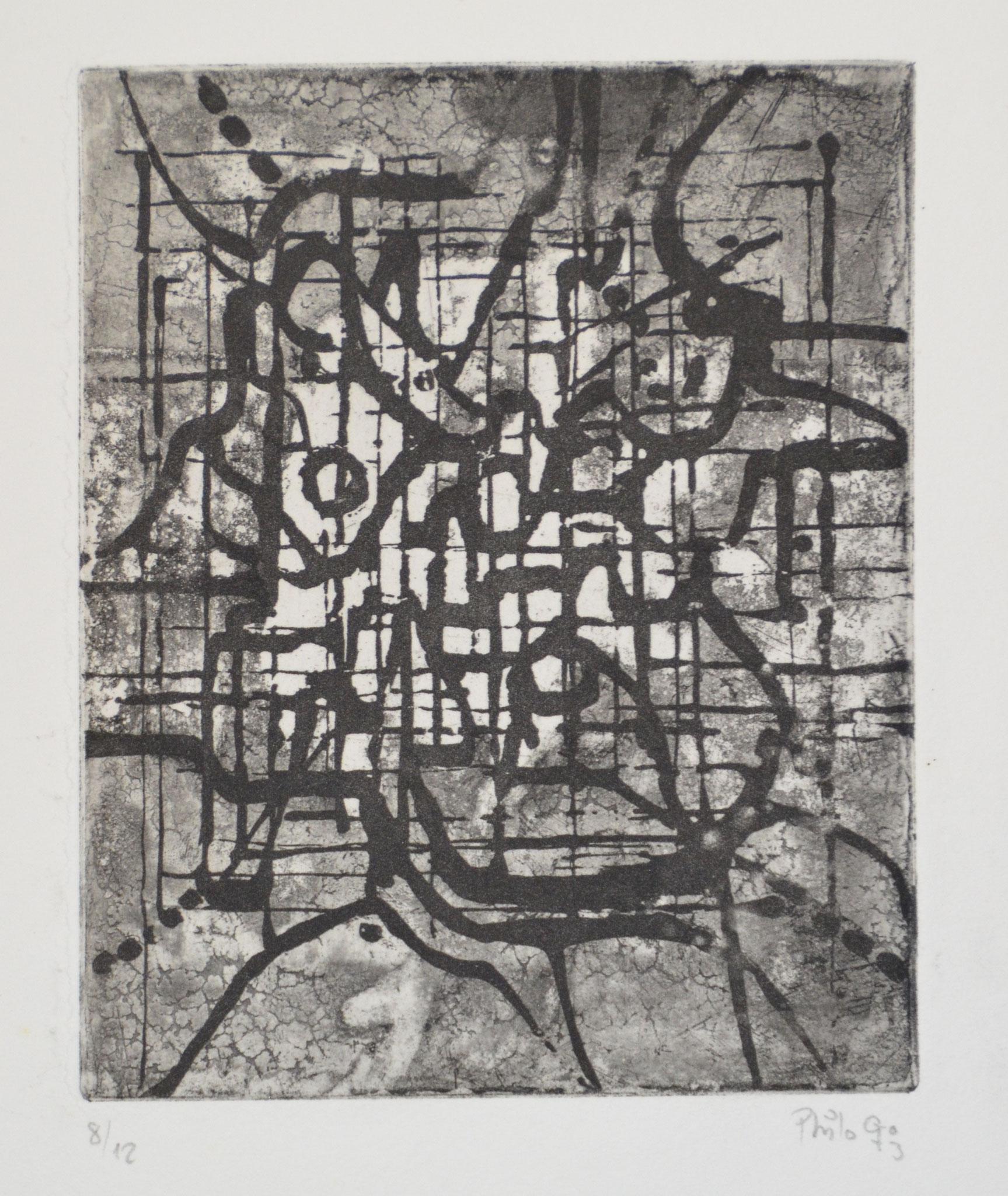 Ad lucem gravure 33x25cm  1973