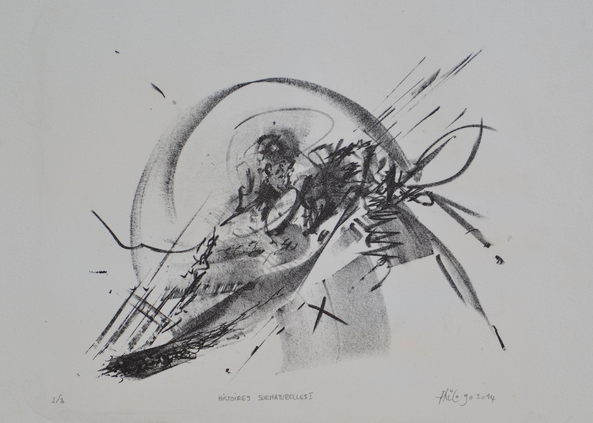Histoires surnaturelles 1- 2014-lithographie 40x30cm