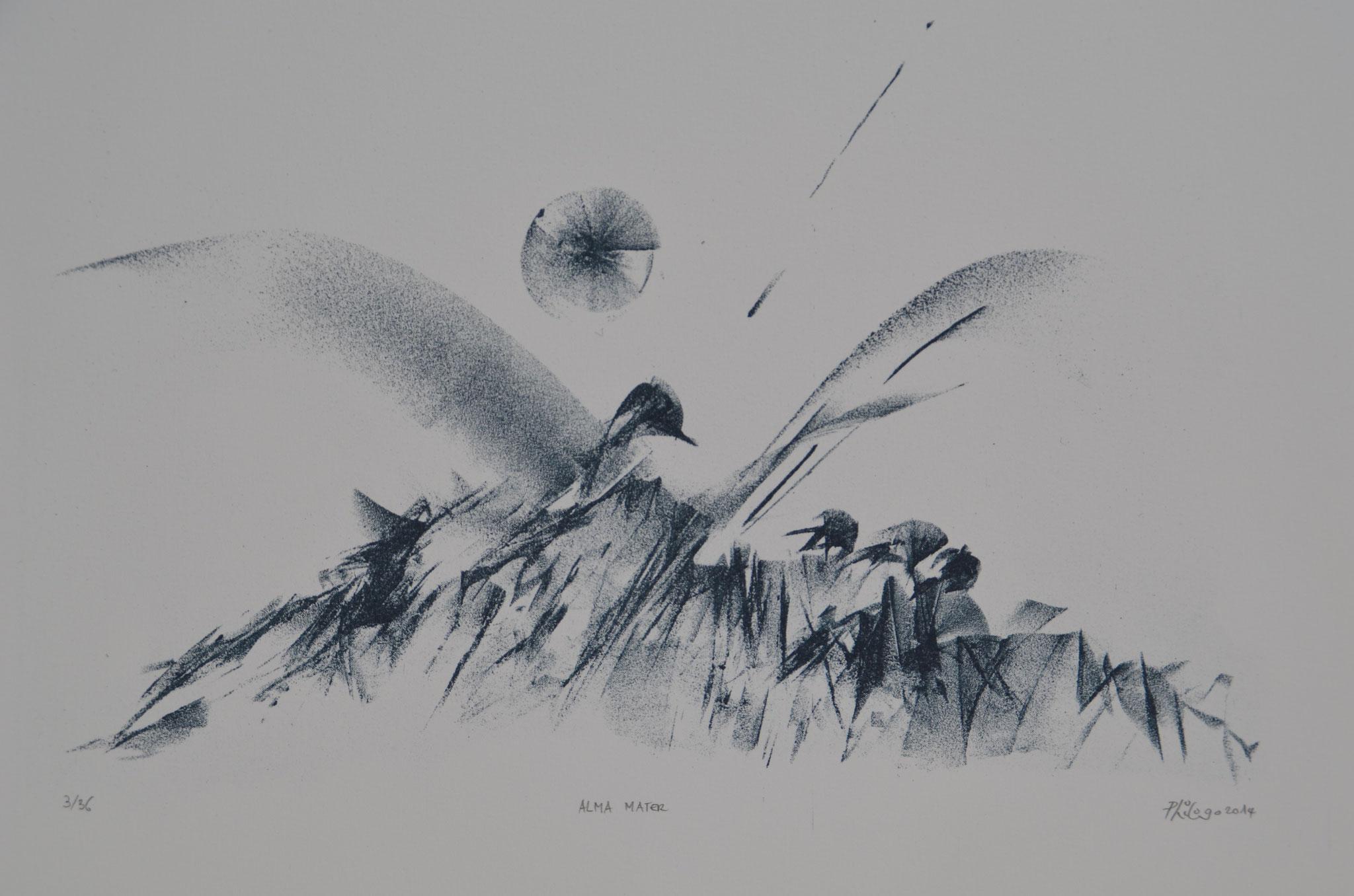 Alma Mater 2014-lithographie-F. 50x39cm