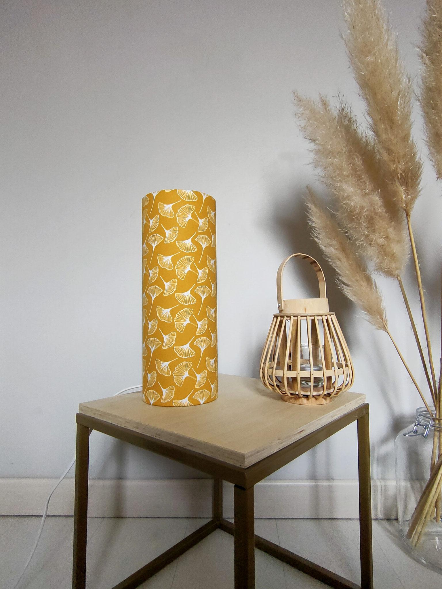 Lampe tube M Gingko Jaune