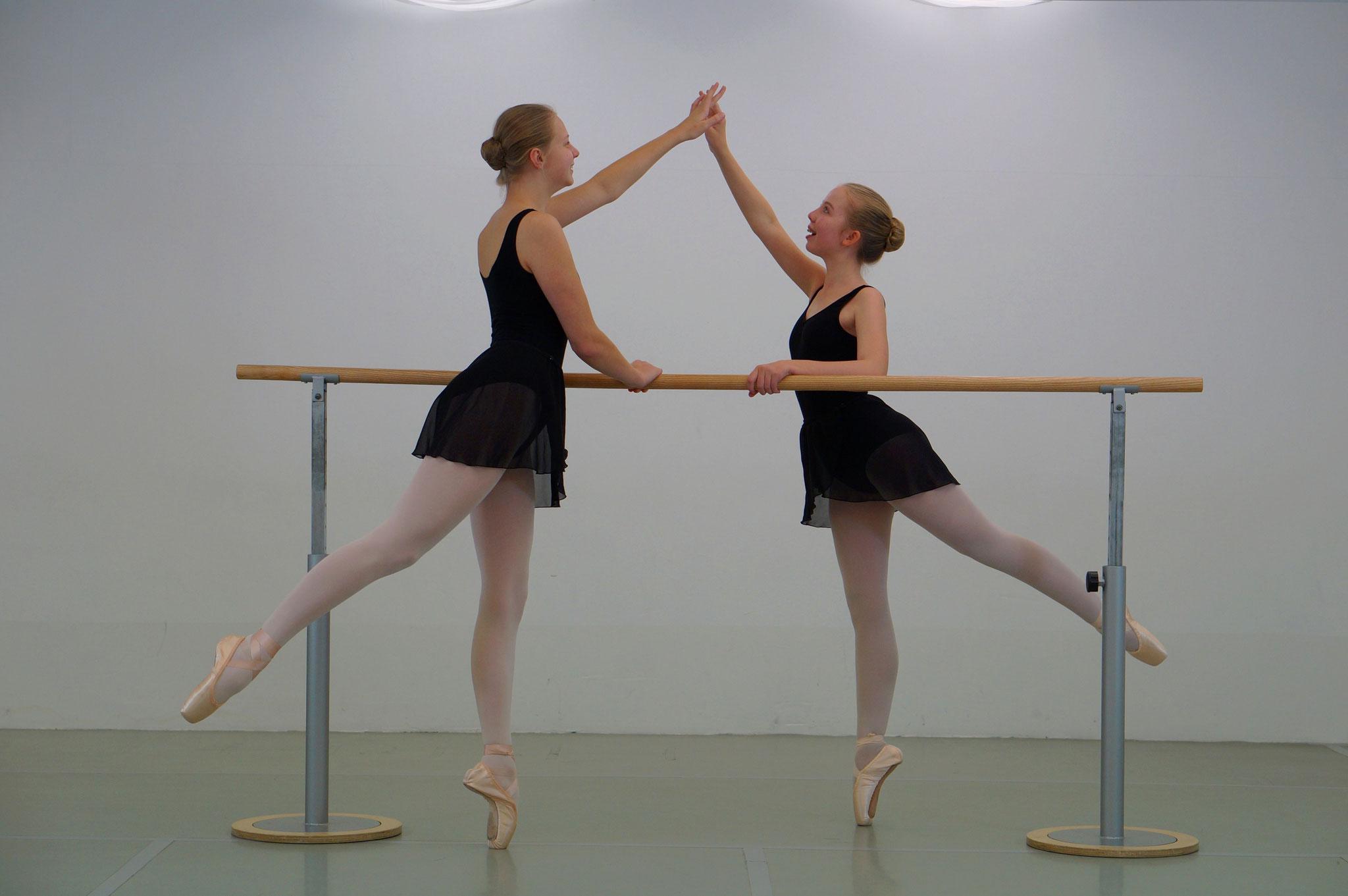 Im Ballettsaal - Fotoshooting 2017 in der Ballettschule Lorbeer