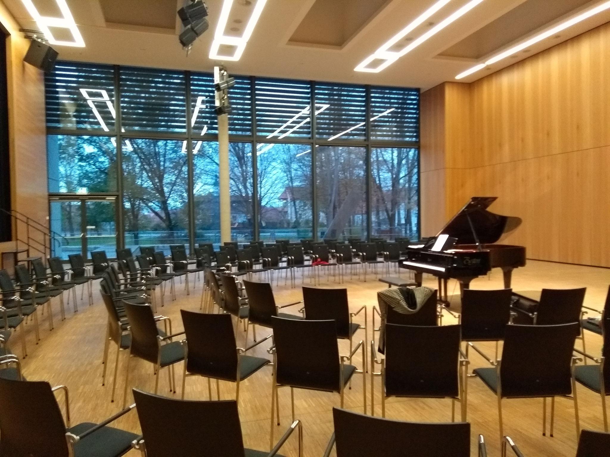 アントン・ツァプフとのピアノデュオコンサート、マックス・レーガーの大曲にも取り組みました。(ドイツ・ノインブルク2019年11月)