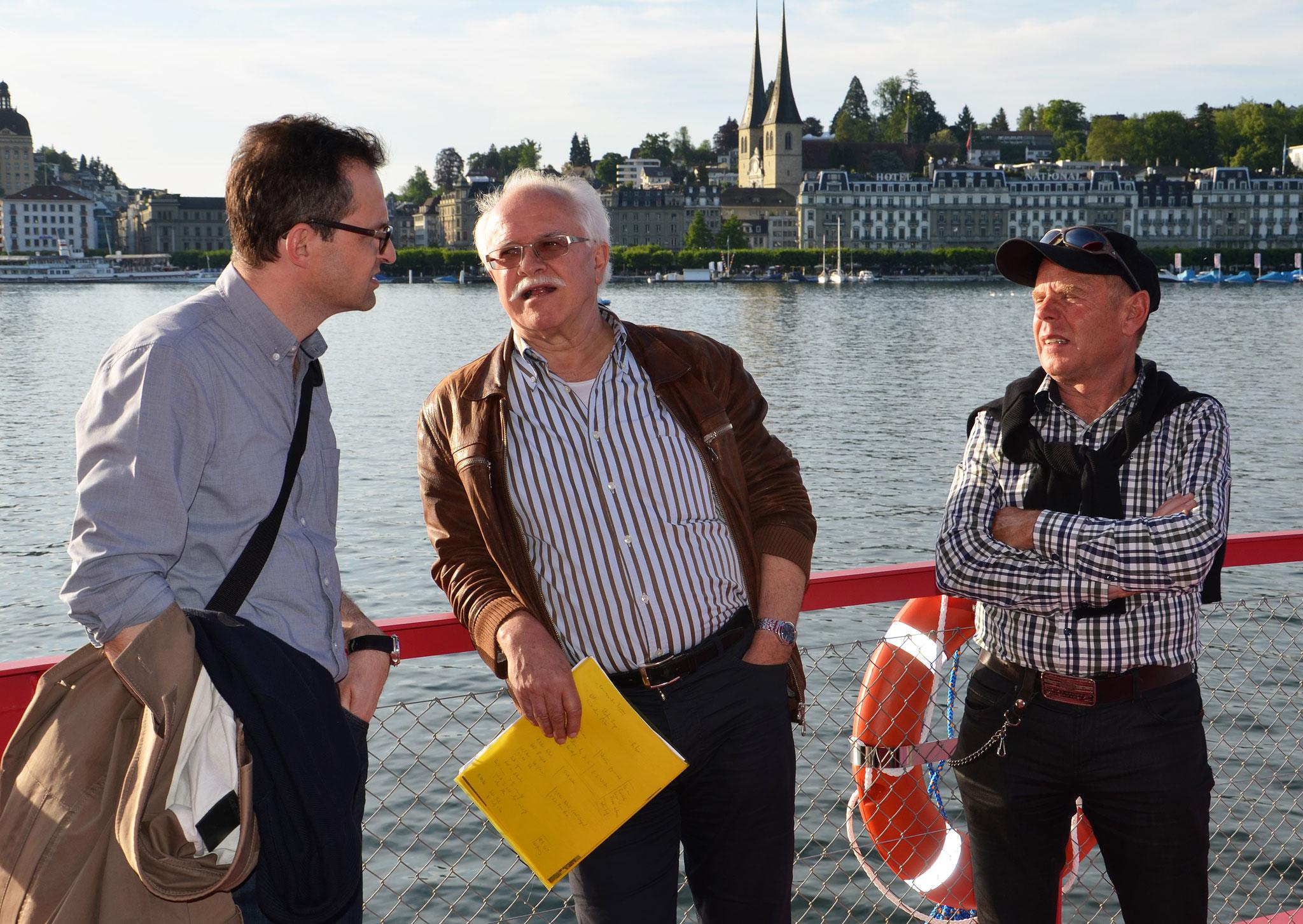 Robert Bachmann, Josias Clavadetscher und Werner Schelbert.