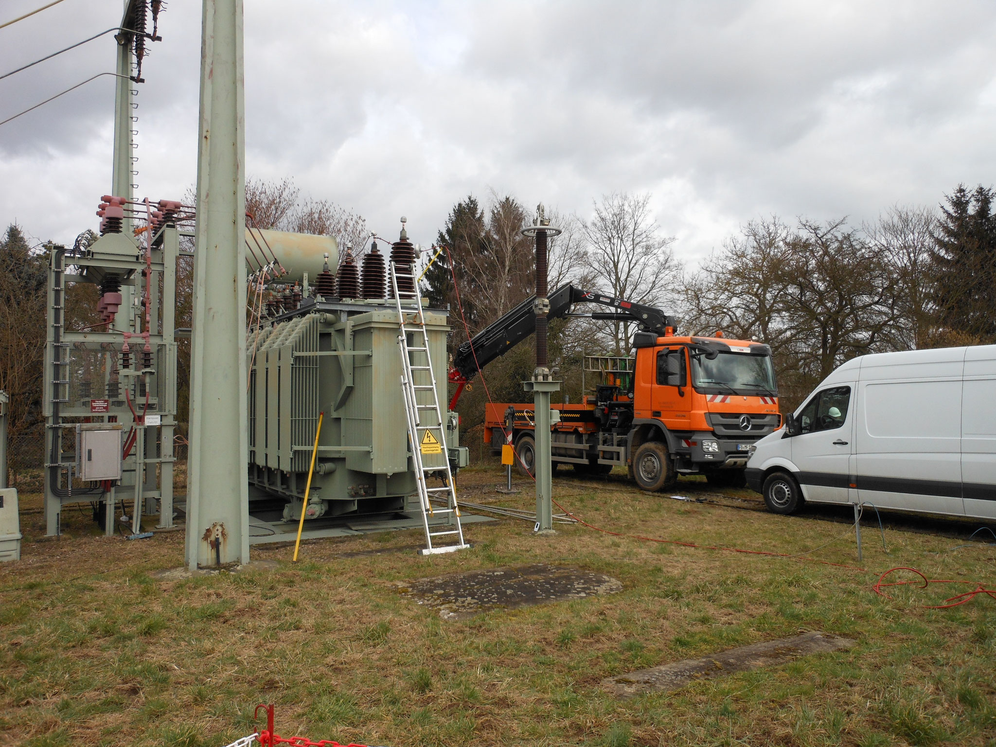 Alterungsdiagnose am 110 kV-Netztransformator (31,5 MVA) von 1976