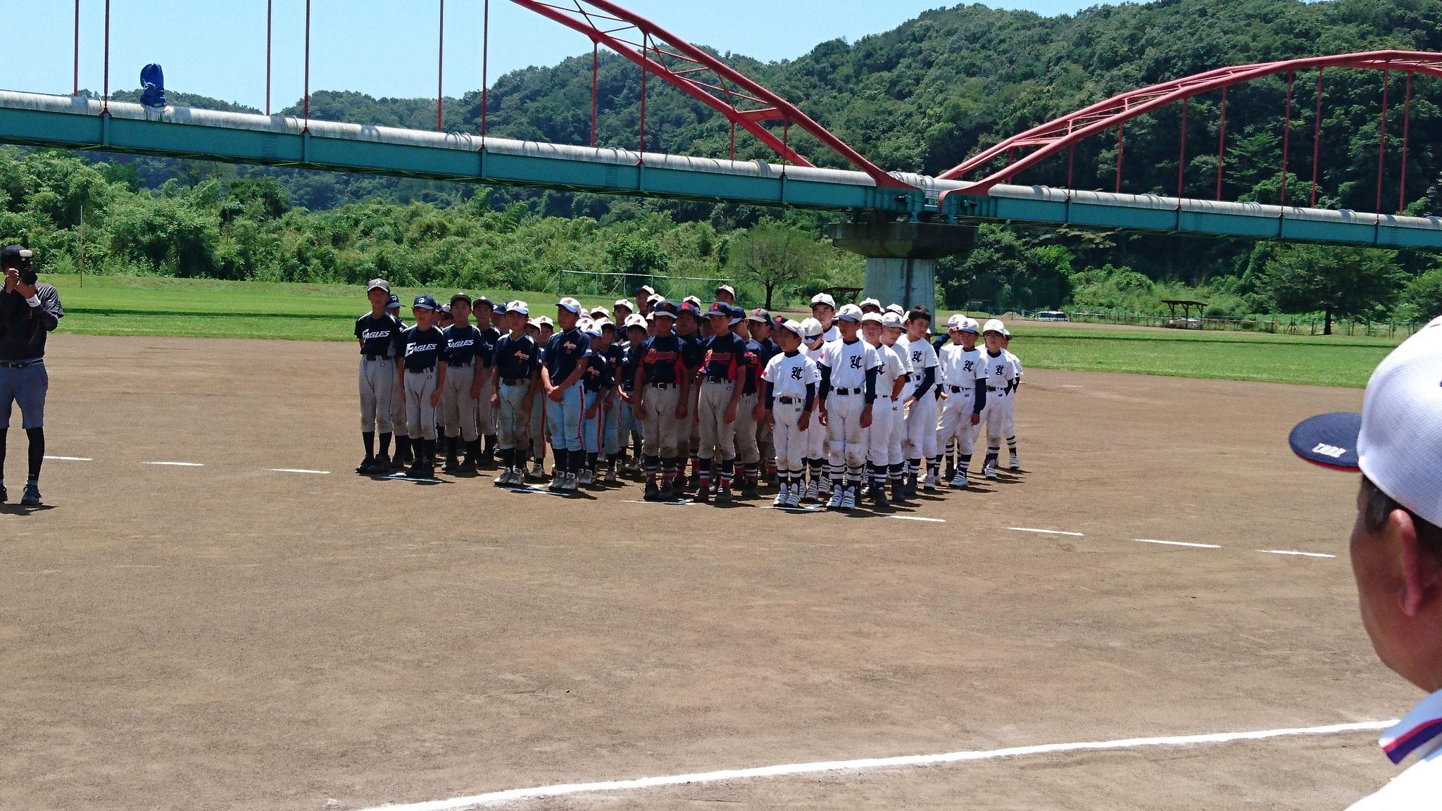 第25回市長杯争奪少年野球大会市長杯   表彰式 平成30年7月1日