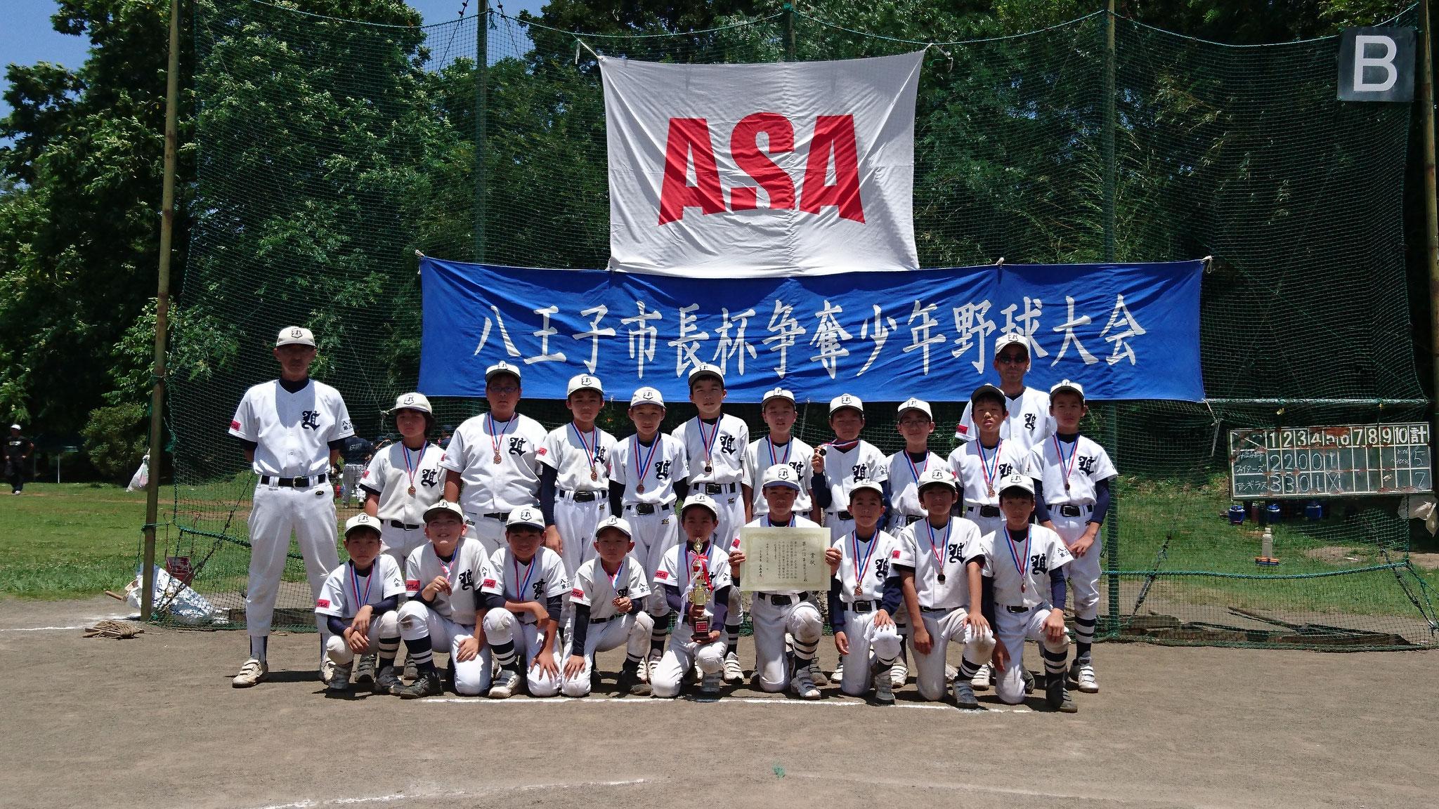 第25回市長杯争奪少年野球大会・第3位  第三地区ライオンズ 平成30年7月1日