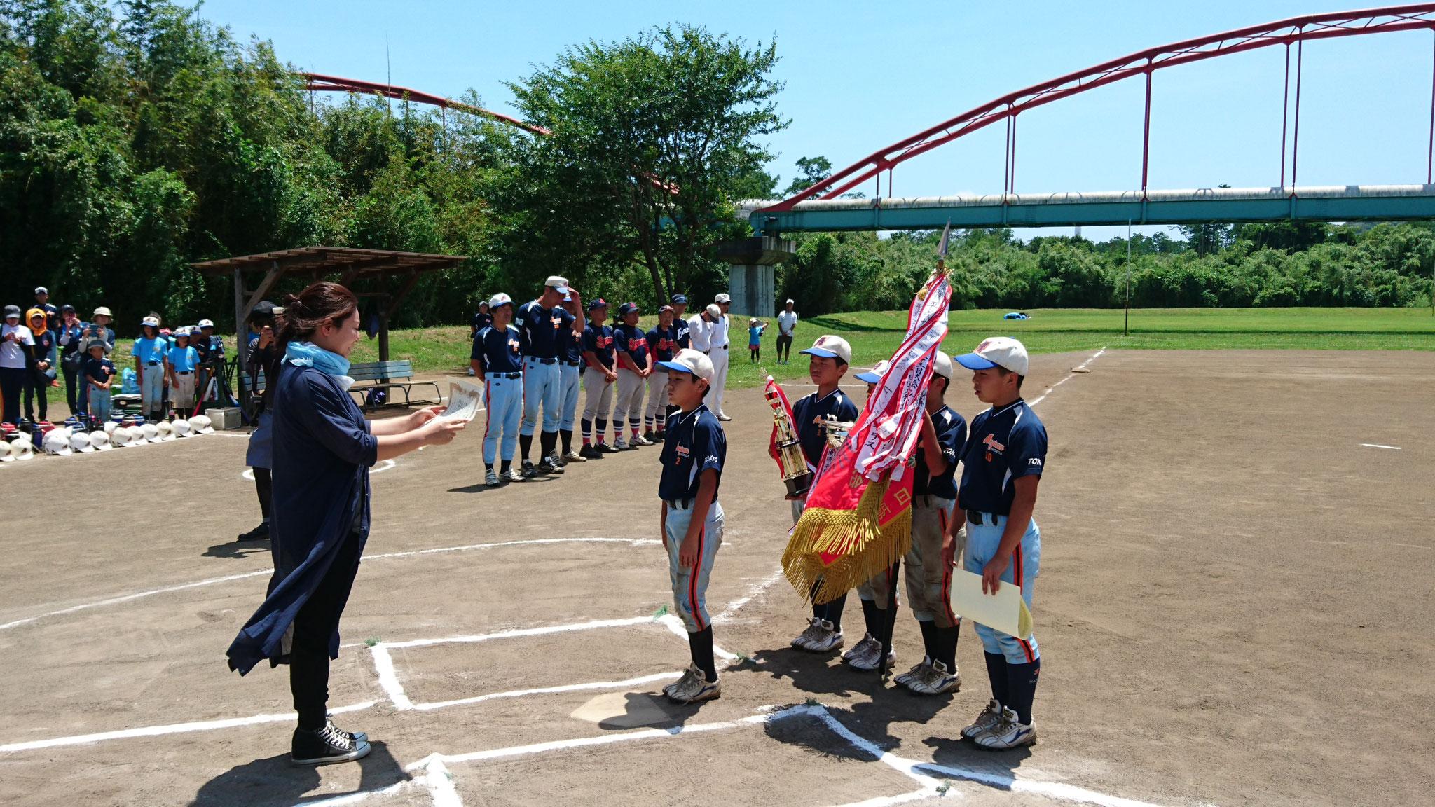 第25回市長杯争奪少年野球大会      今江賞授与 平成30年7月1日