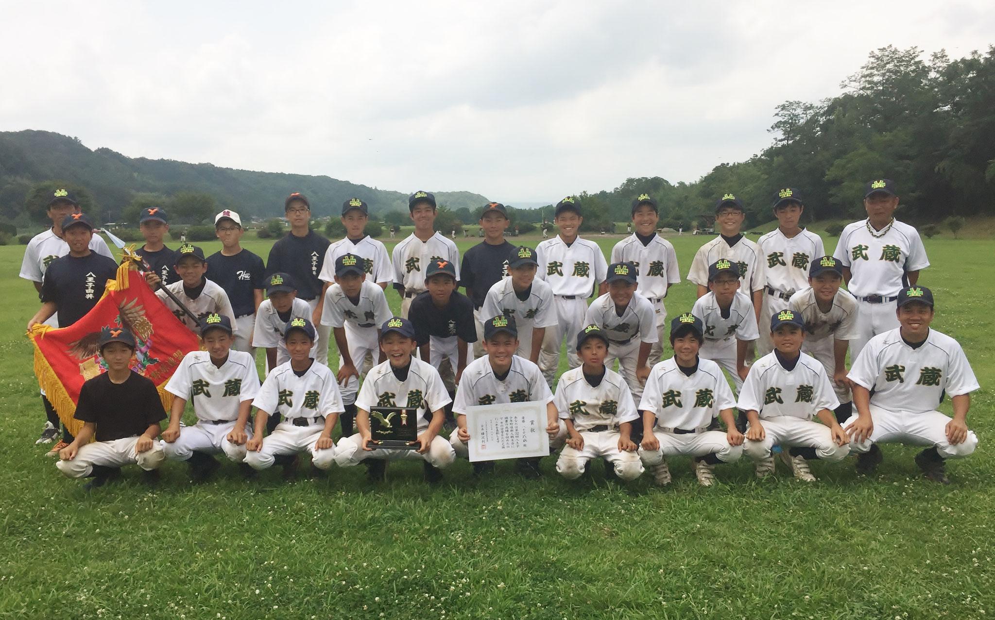 新人戦大会(中学)優勝 八王子武蔵 H29.8.6(日) 滝ガ原グラウンド