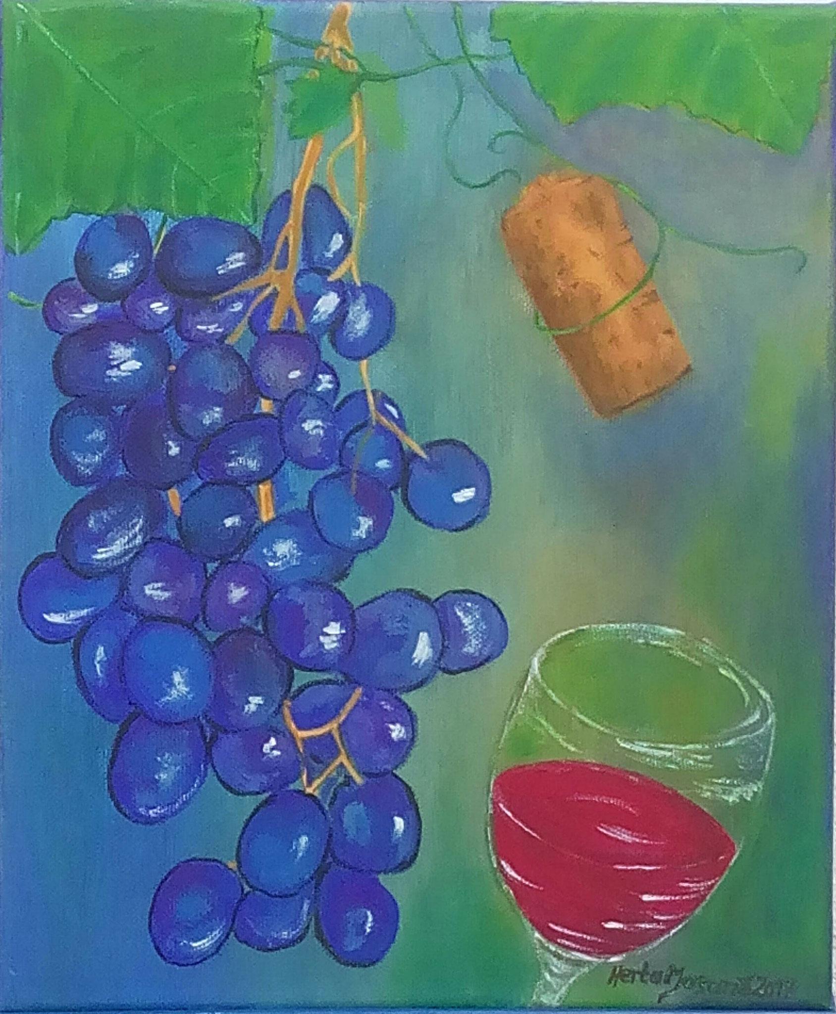 Wein Trauben - 25 x 30 cm